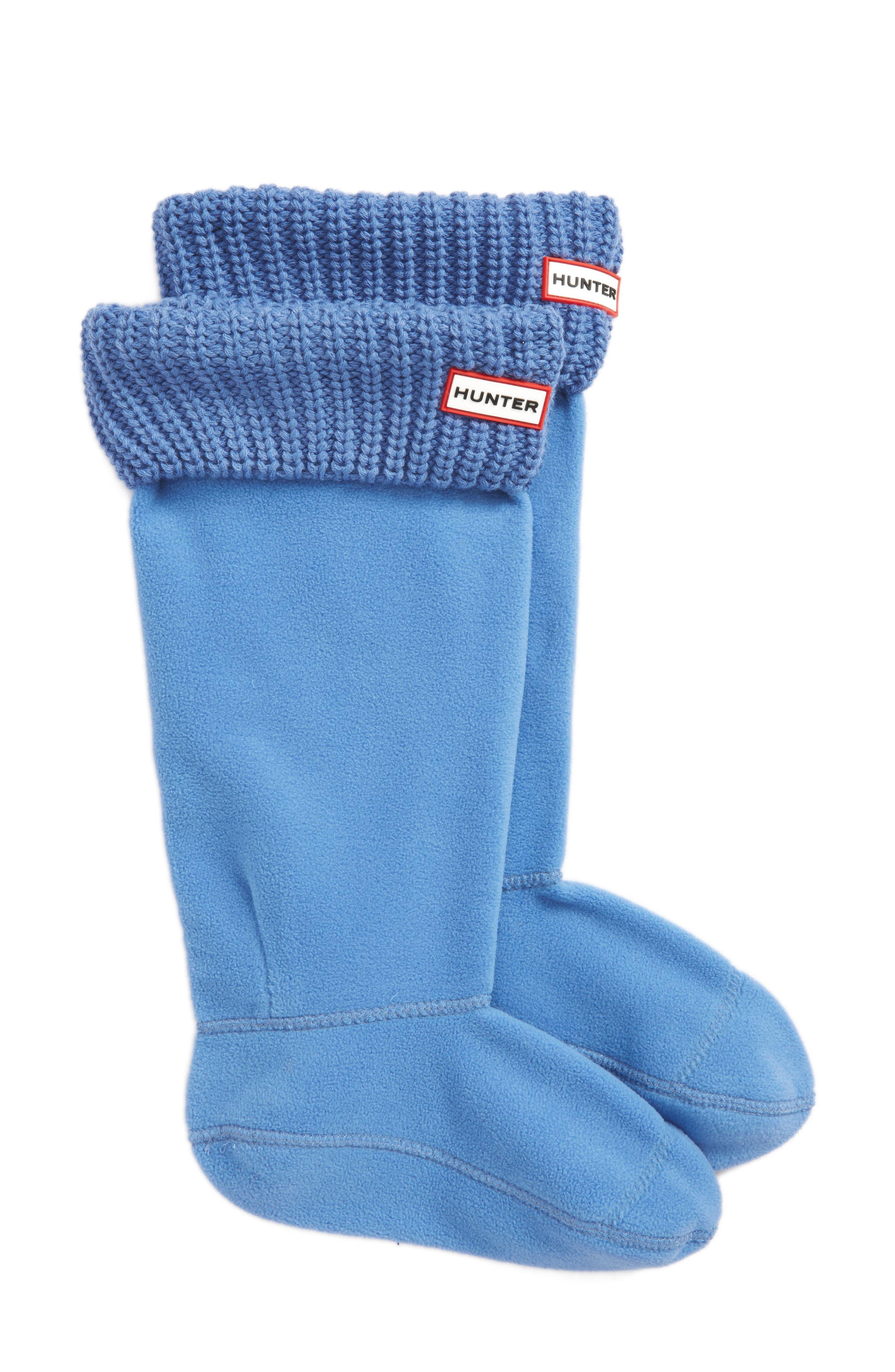 Tall Cardigan Knit Cuff Welly Boot Socks,                         Main,                         color, Ozone