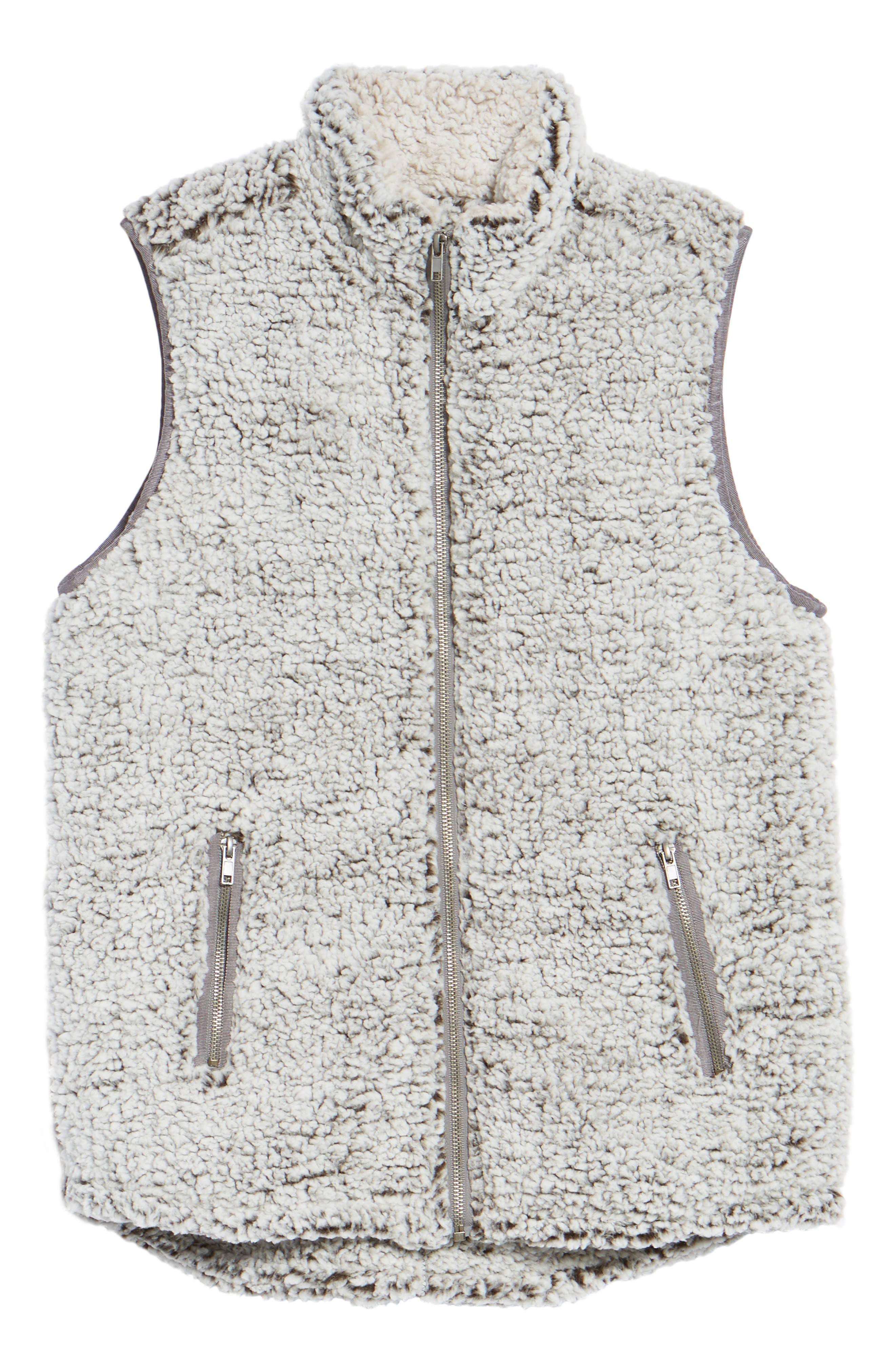 Arctic Fleece Vest,                             Alternate thumbnail 6, color,                             Charcoal