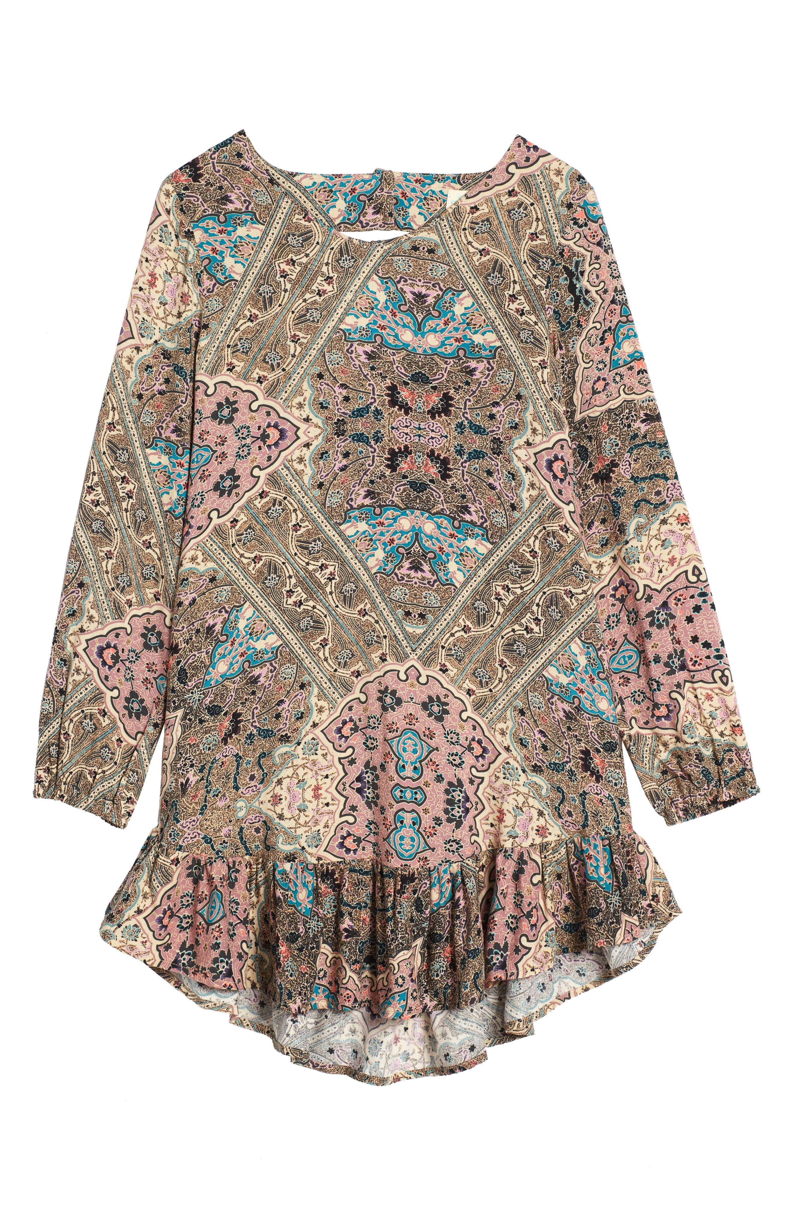 Samantha Print Dress,                         Main,                         color, Naked