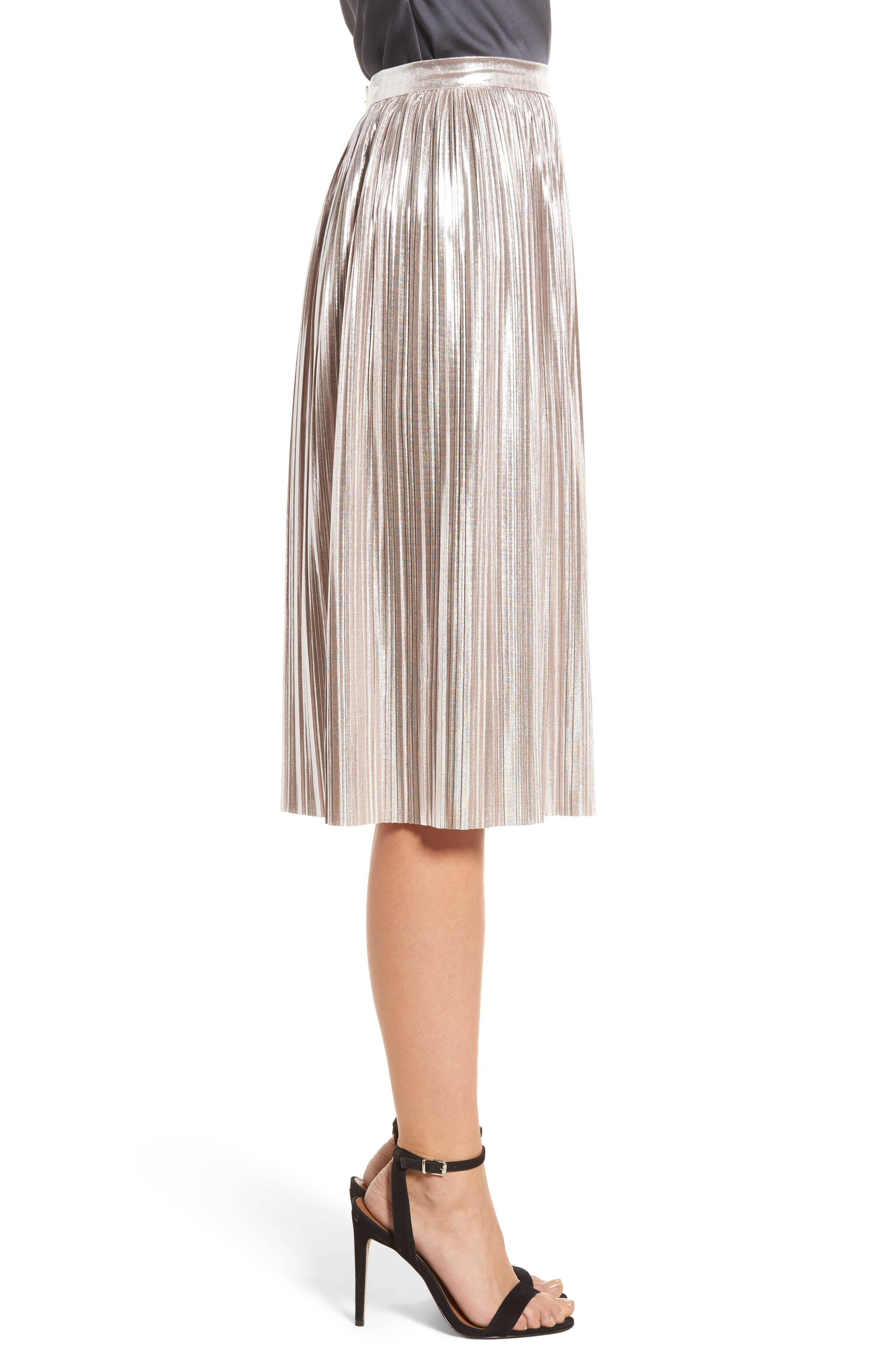 Morgan Pleat Skirt,                             Alternate thumbnail 3, color,                             Lilas