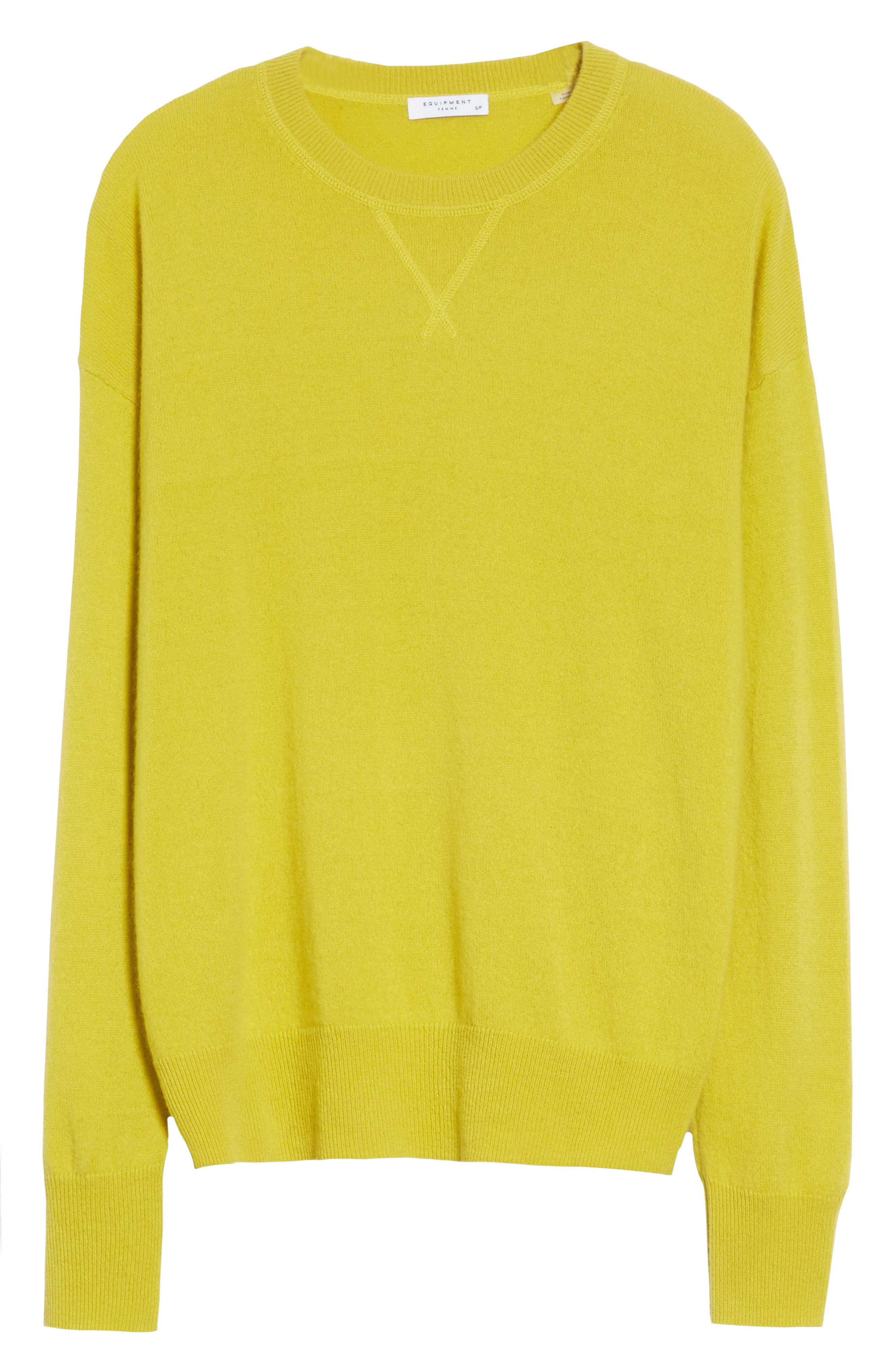 Renee Cashmere Sweatshirt,                             Alternate thumbnail 6, color,                             Bright Side