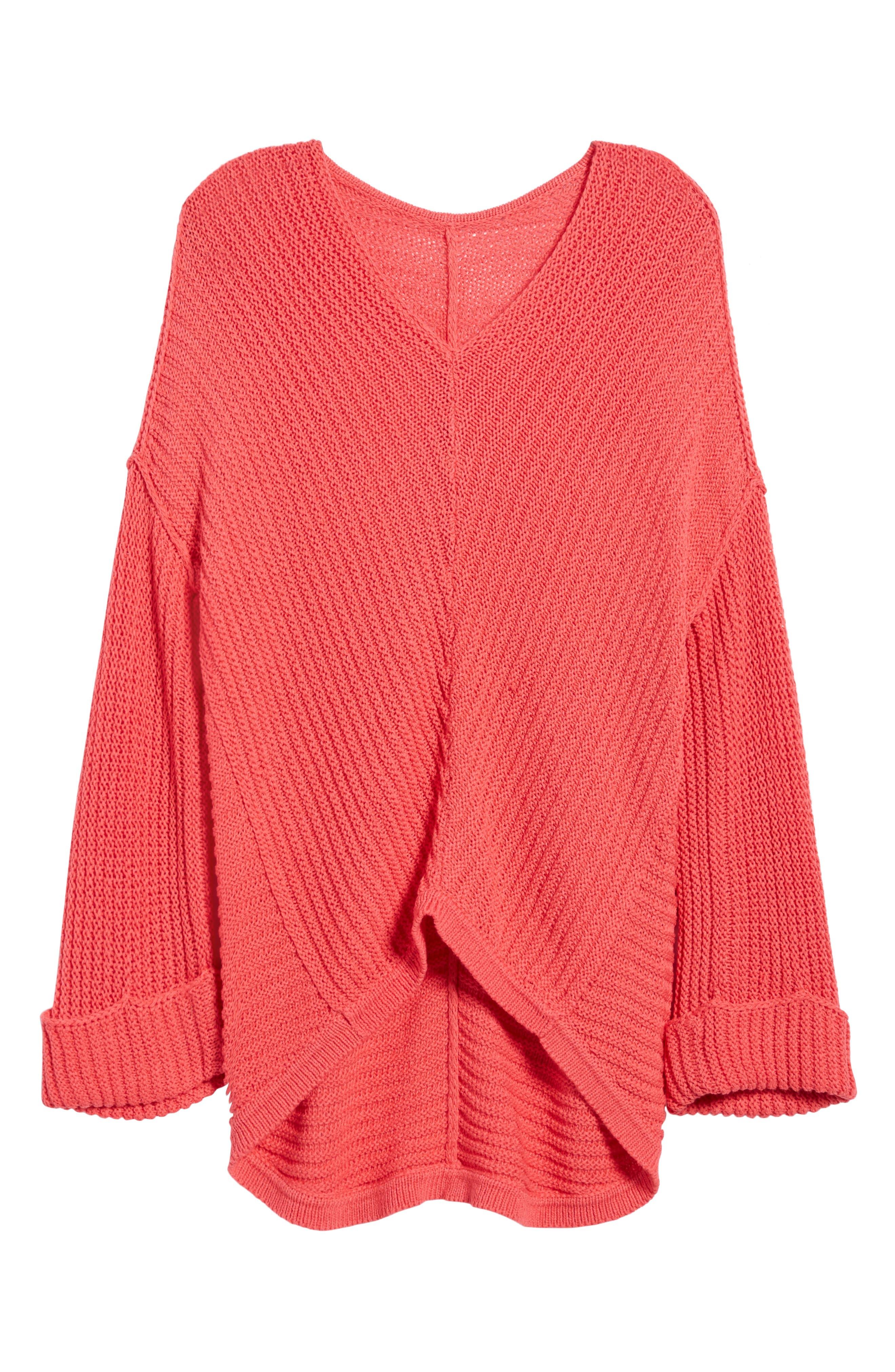 Alternate Image 6  - Caslon® Cuffed Sleeve Sweater (Regular & Petite)