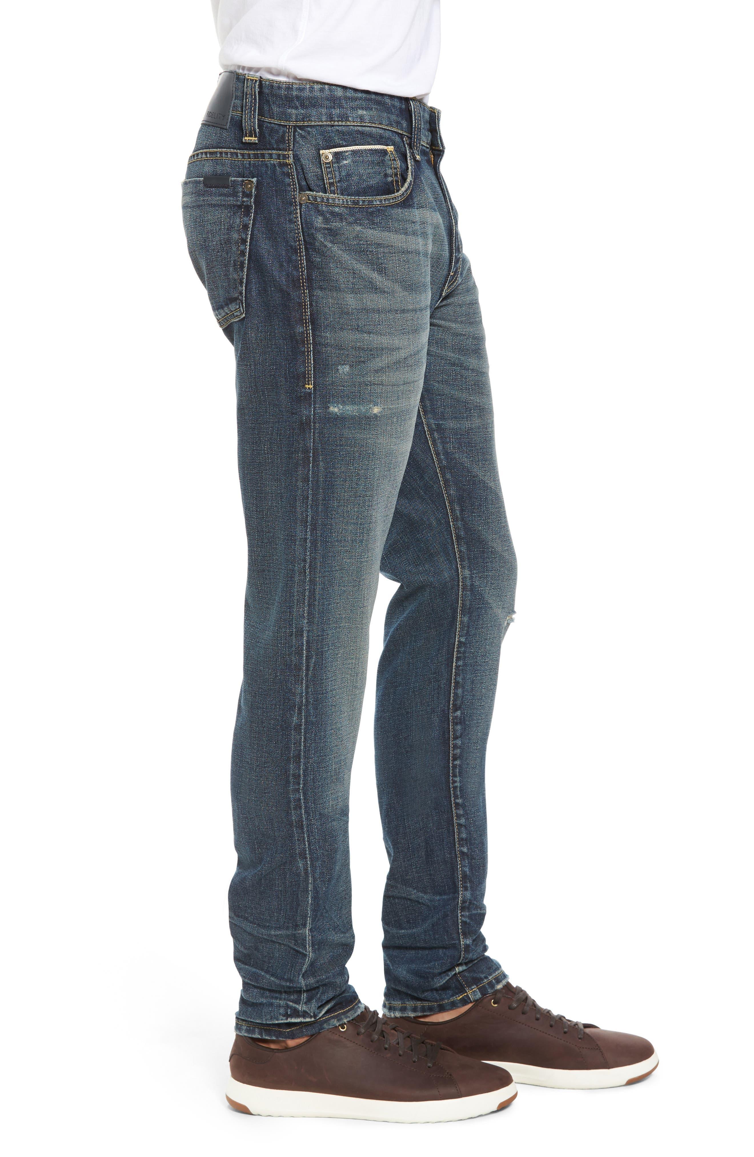 Fideltiy Denim Torino Slim Fit Jeans,                             Alternate thumbnail 3, color,                             Crystal Blue
