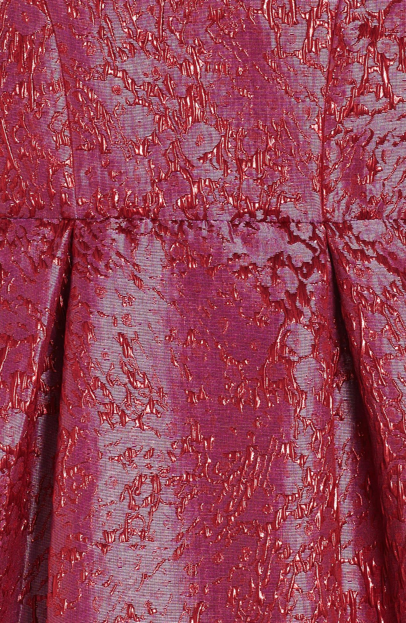 Textured Jacquard Dress,                             Alternate thumbnail 3, color,                             Pink Virtue Crackle