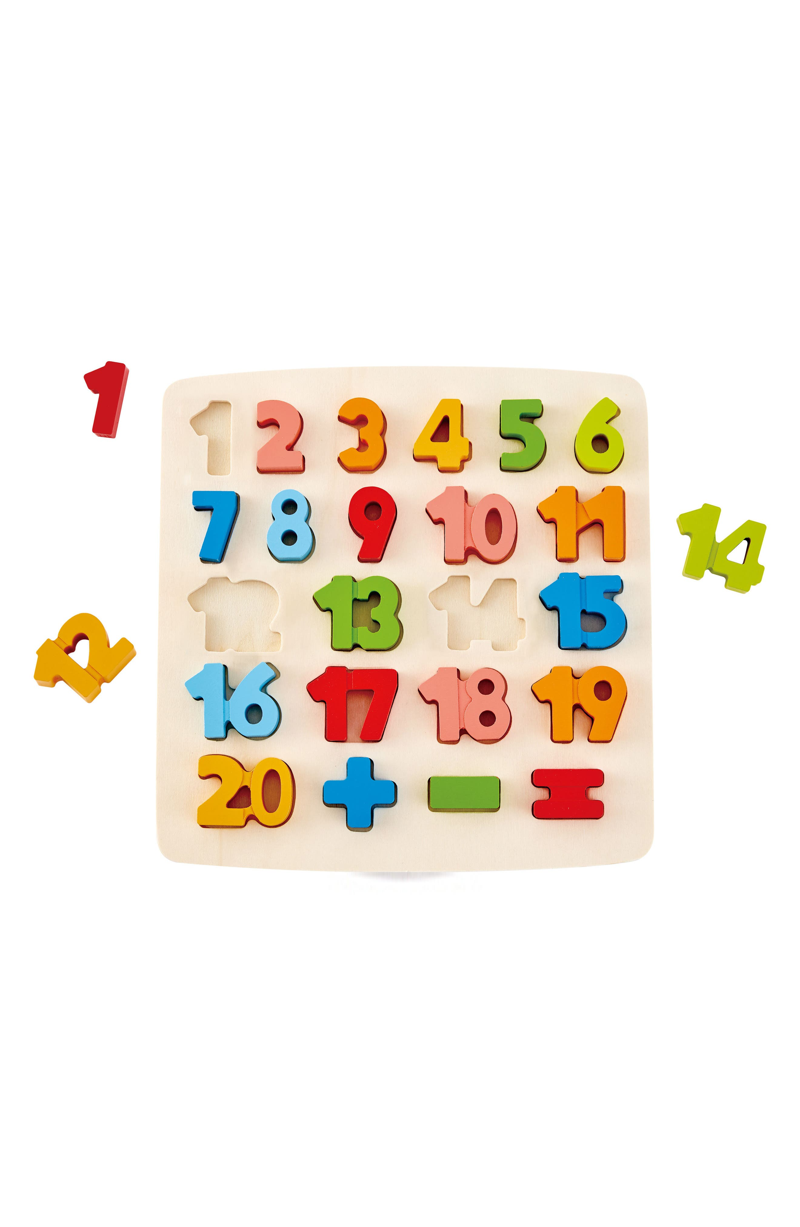 24-Piece Chunky Math Puzzle,                             Alternate thumbnail 3, color,                             Green