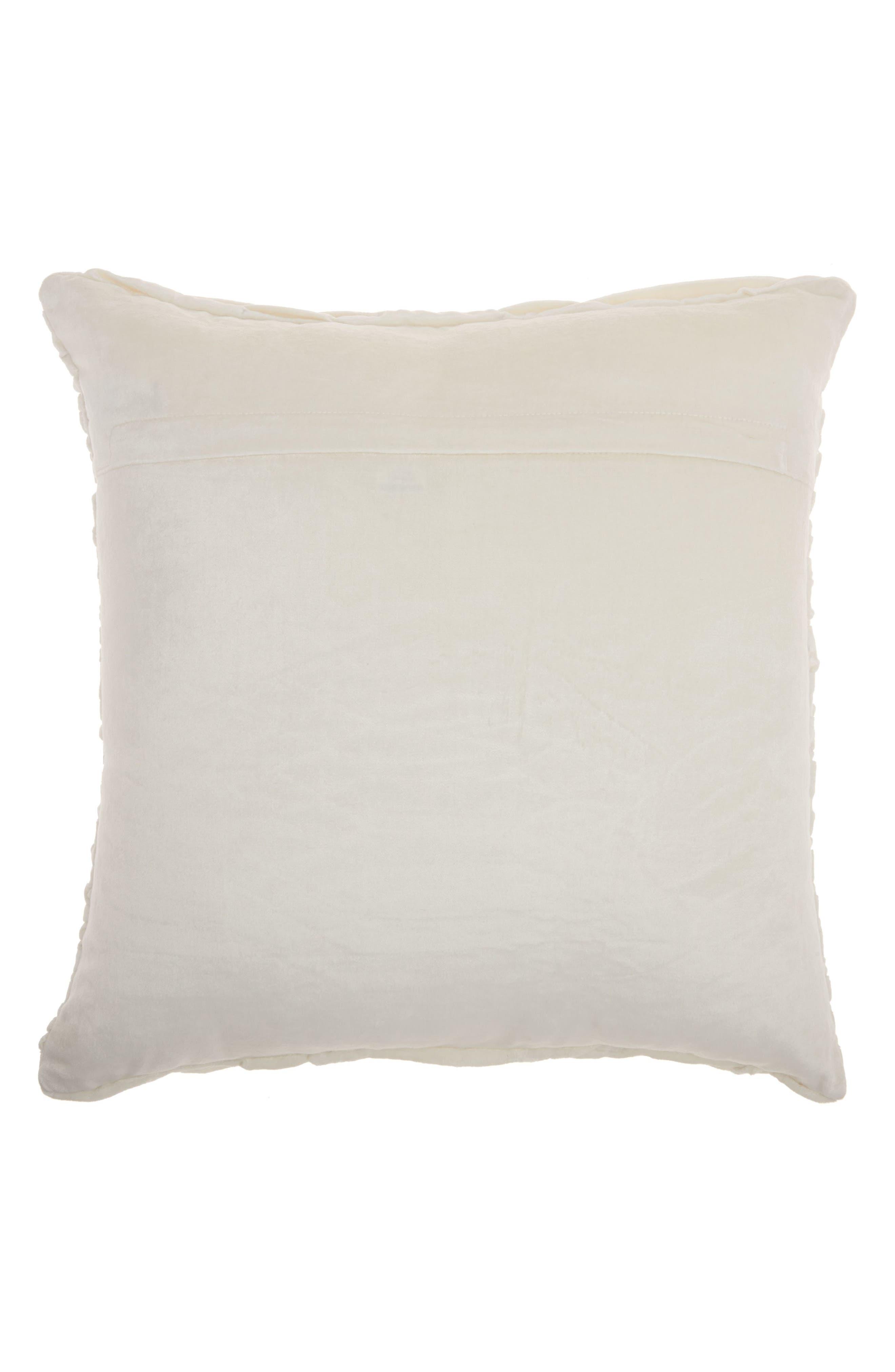 Alternate Image 2  - Mina Victory Pleated Velvet Accent Pillow