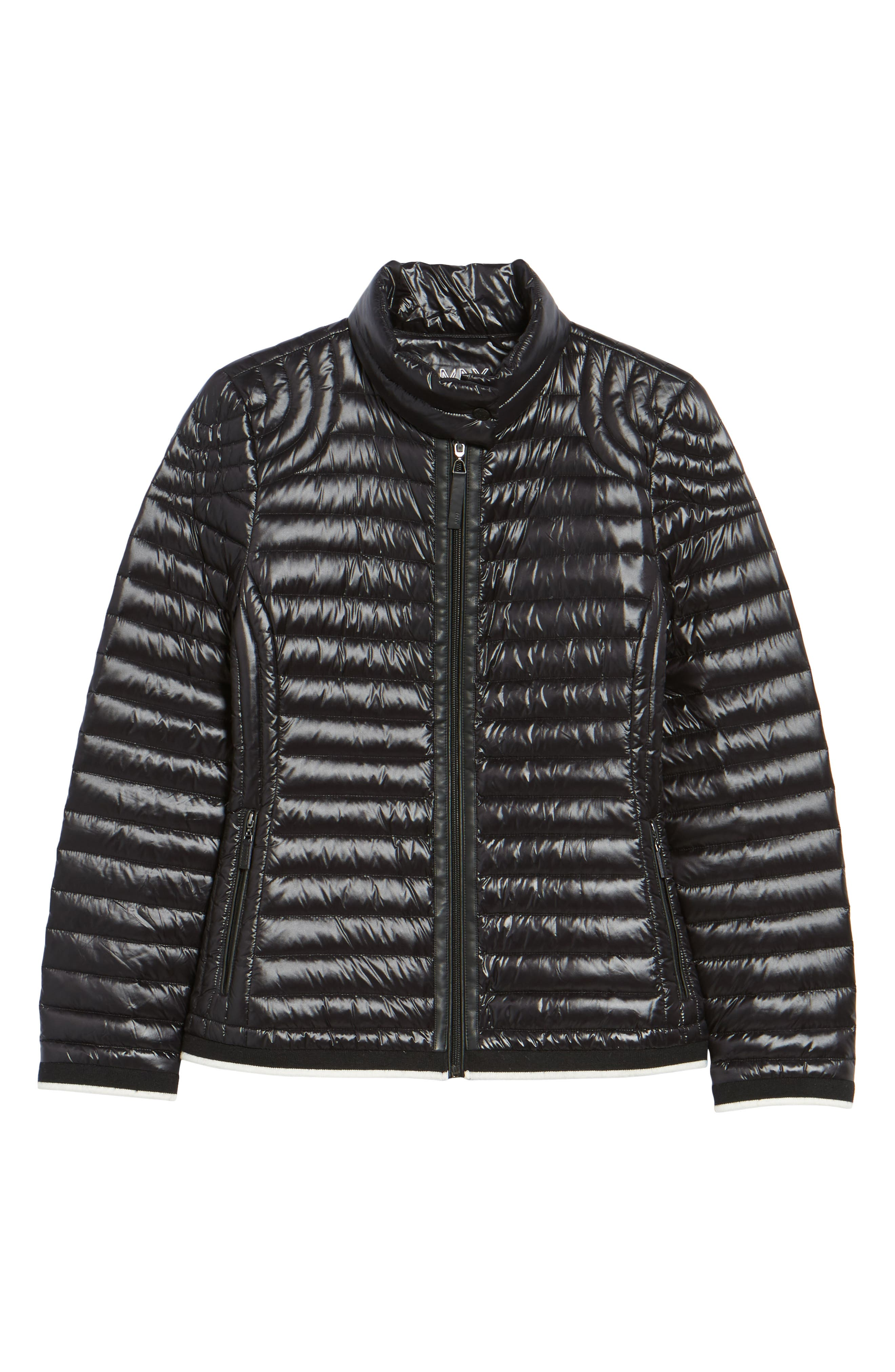 Alternate Image 5  - Marc New York Stripe Trim Packable Down Jacket