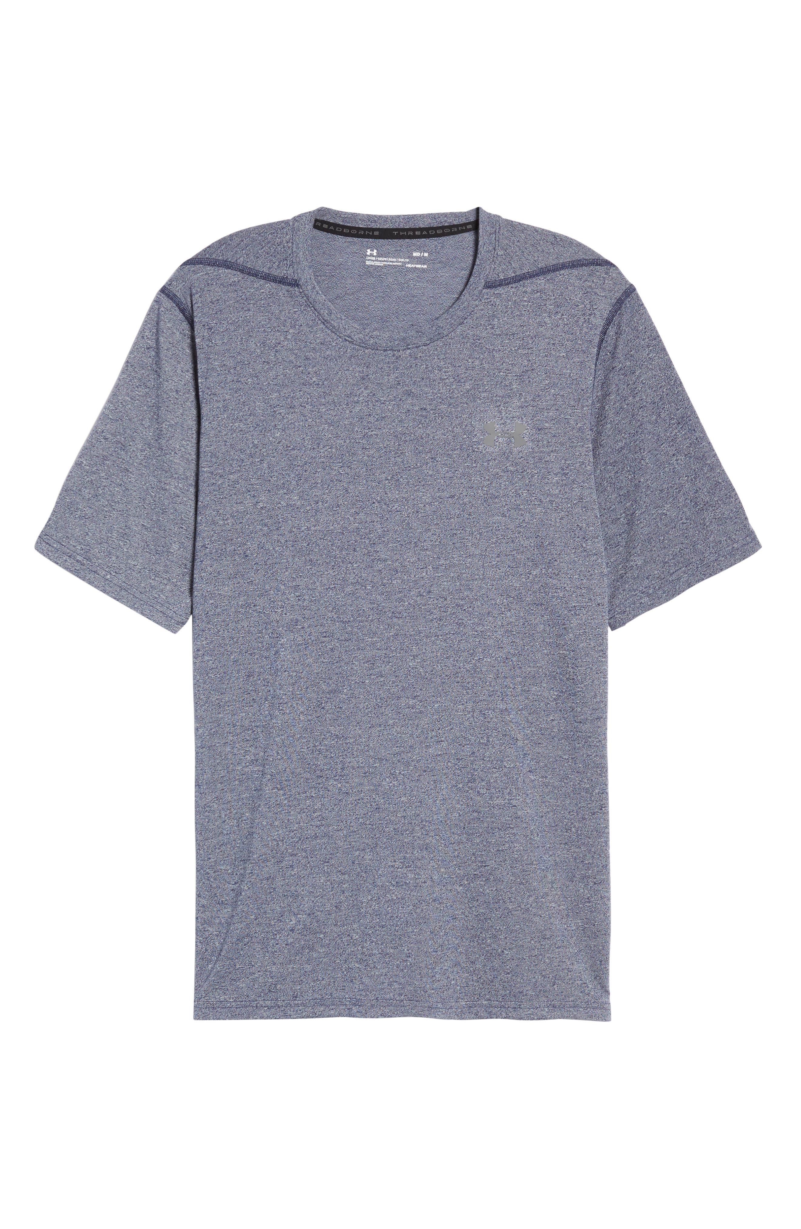 Regular Fit Threadborne T-Shirt,                             Alternate thumbnail 2, color,                             Midnight