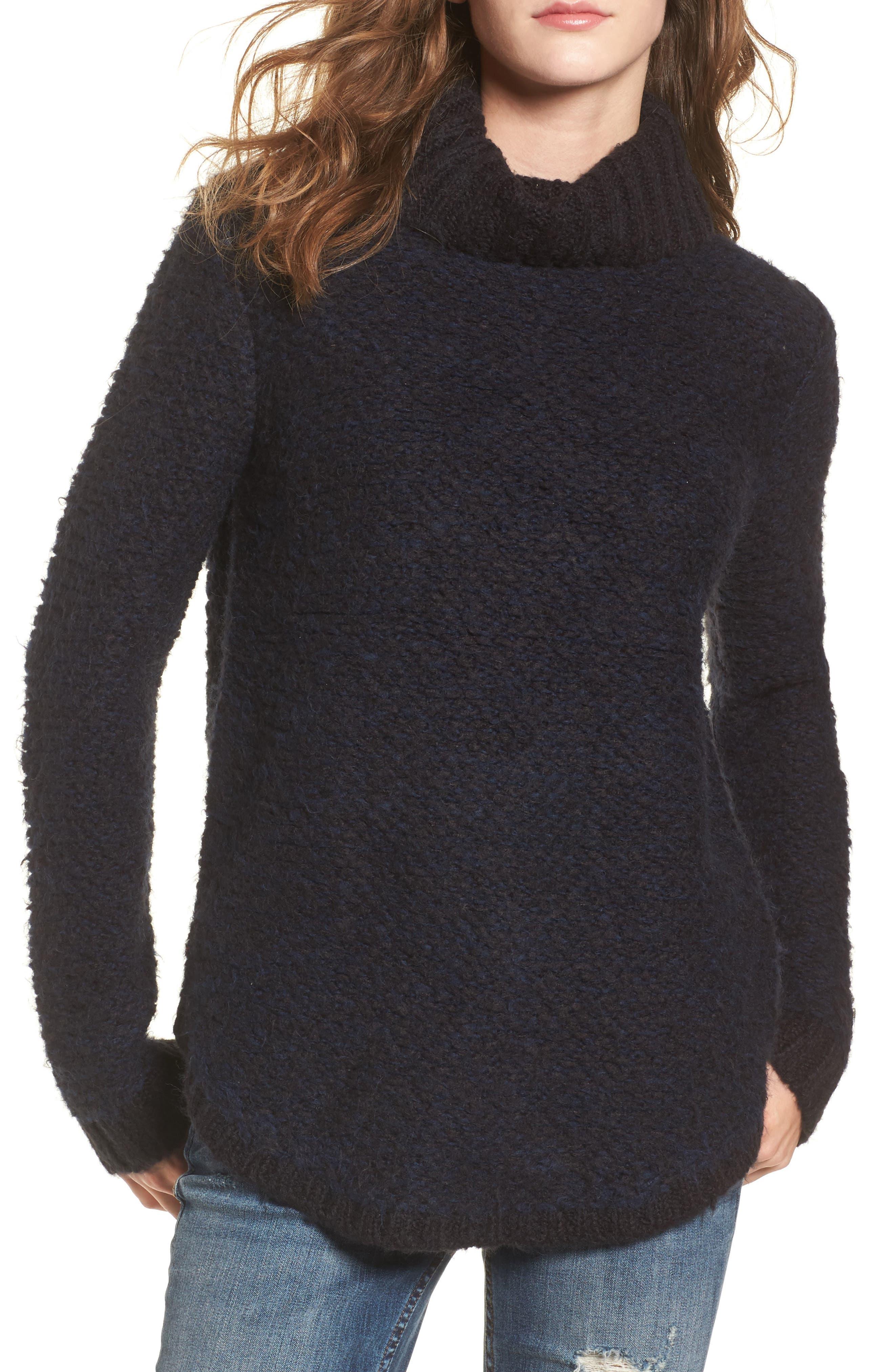 Kinks Turtleneck Sweater,                         Main,                         color, Black