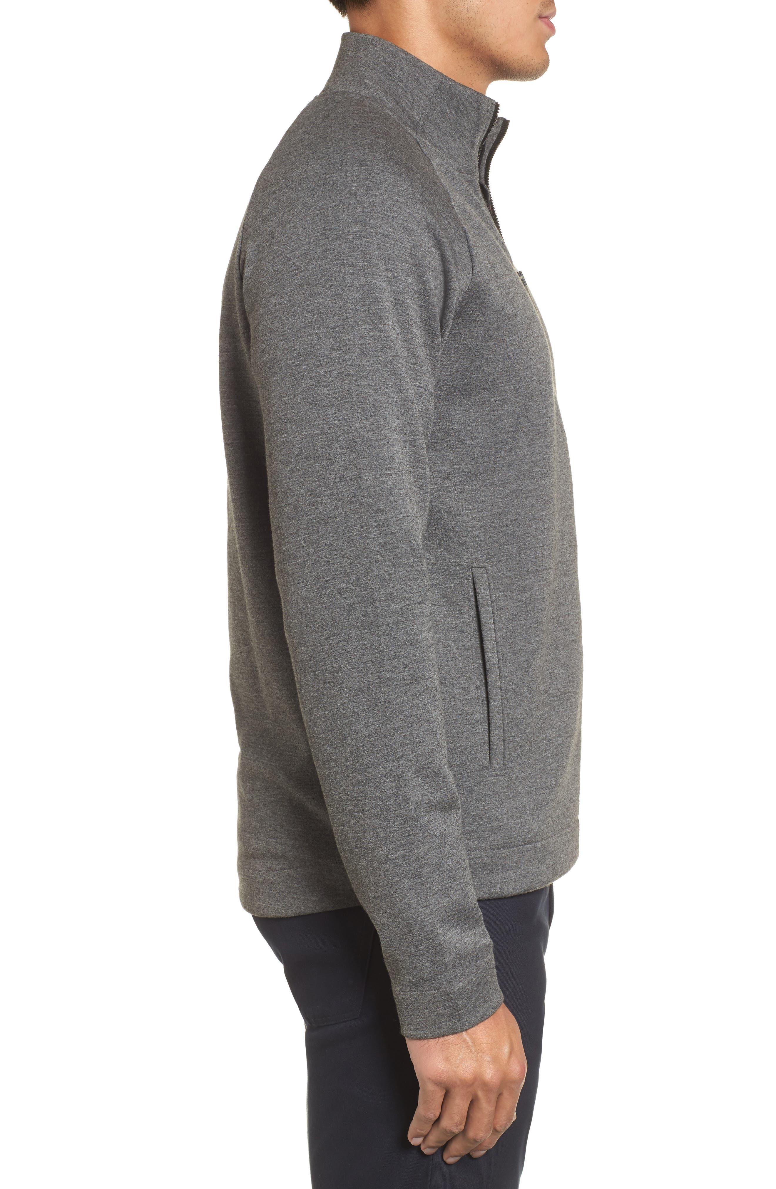 Fleece Jacket,                             Alternate thumbnail 3, color,                             Grey Magnet Heather