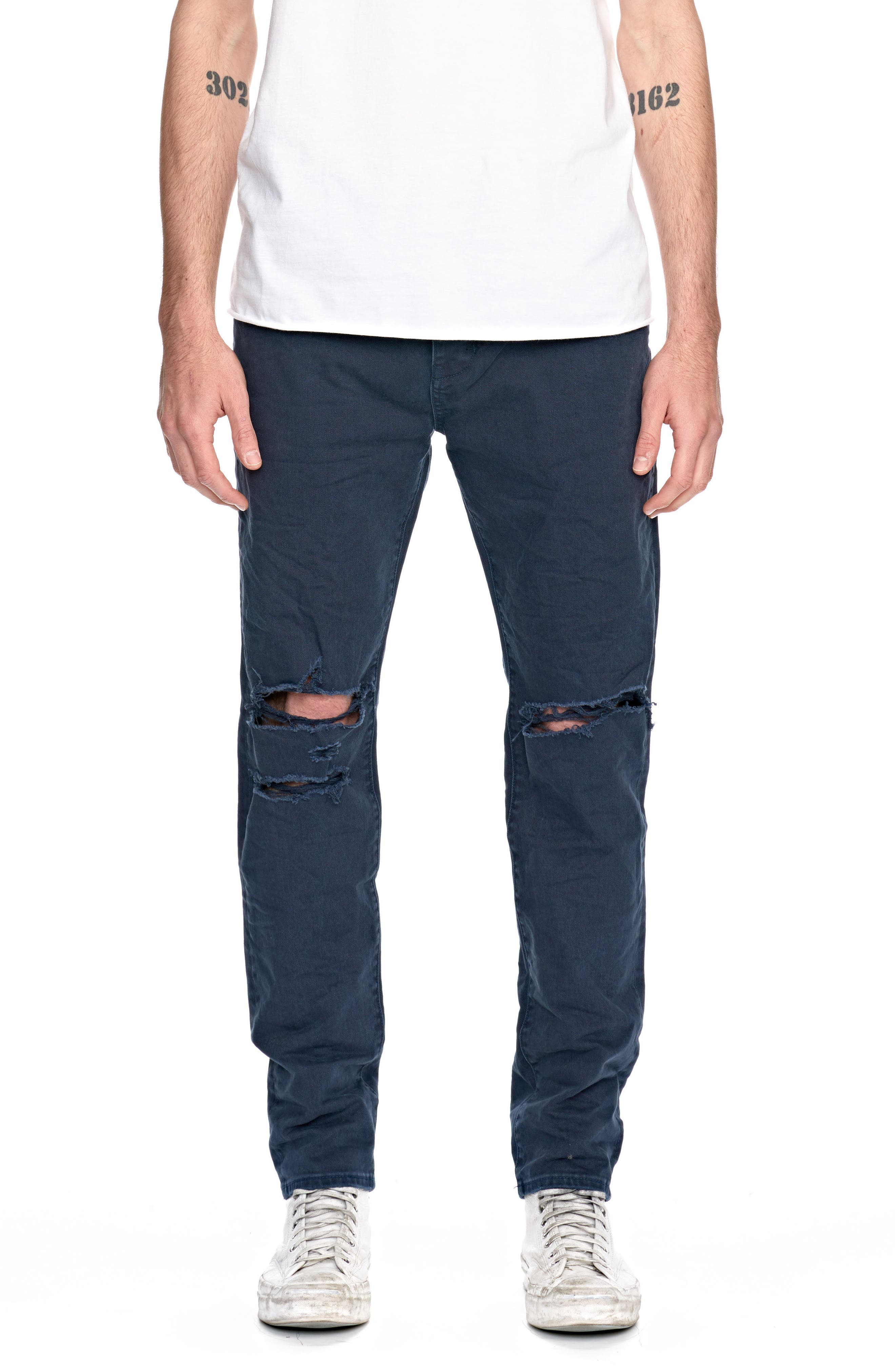 Ray Slouchy Slim Fit Jeans,                             Main thumbnail 1, color,                             Busted Navy