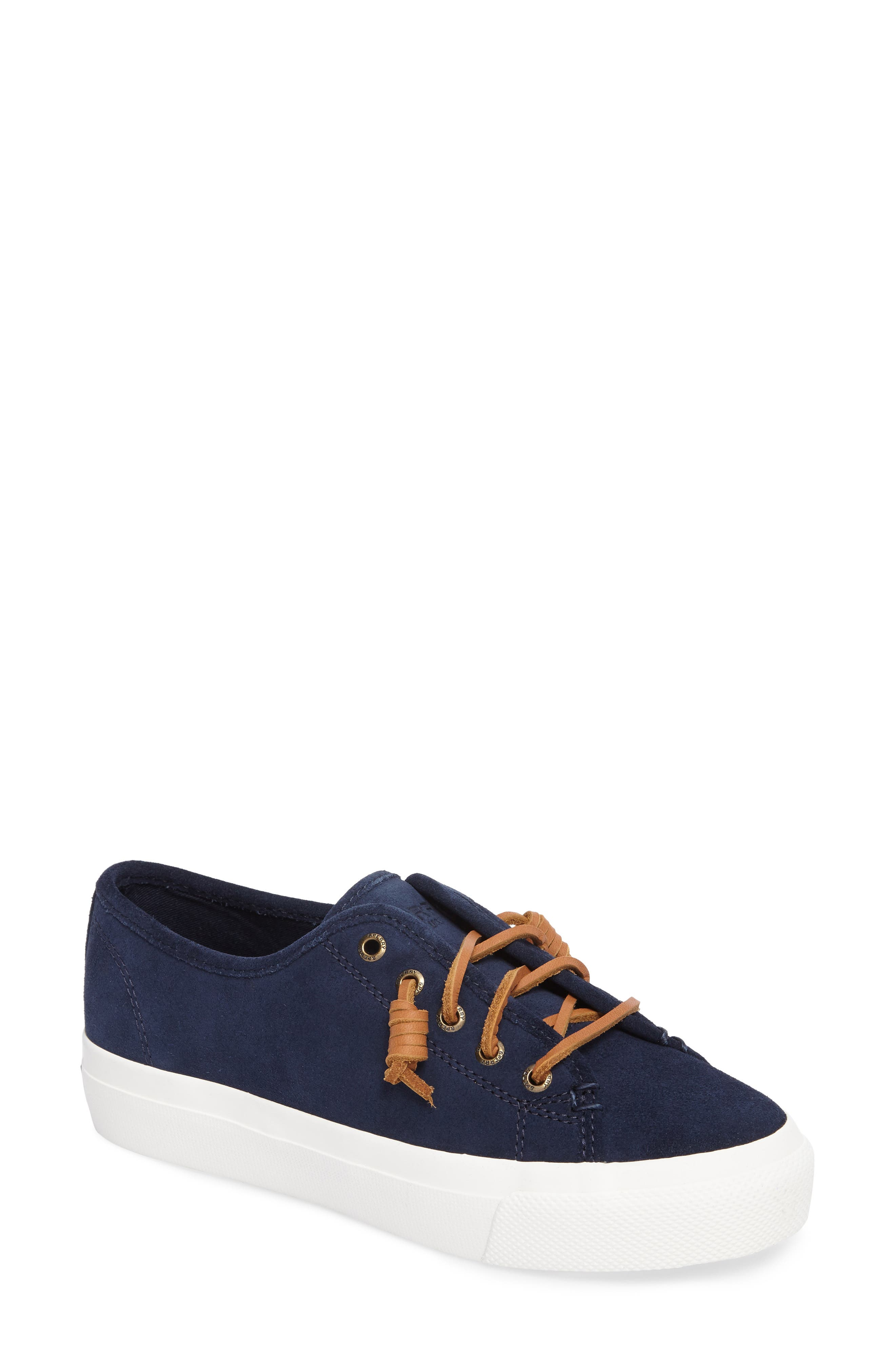 Sky Sail Platform Sneaker,                             Main thumbnail 1, color,                             Navy Suede