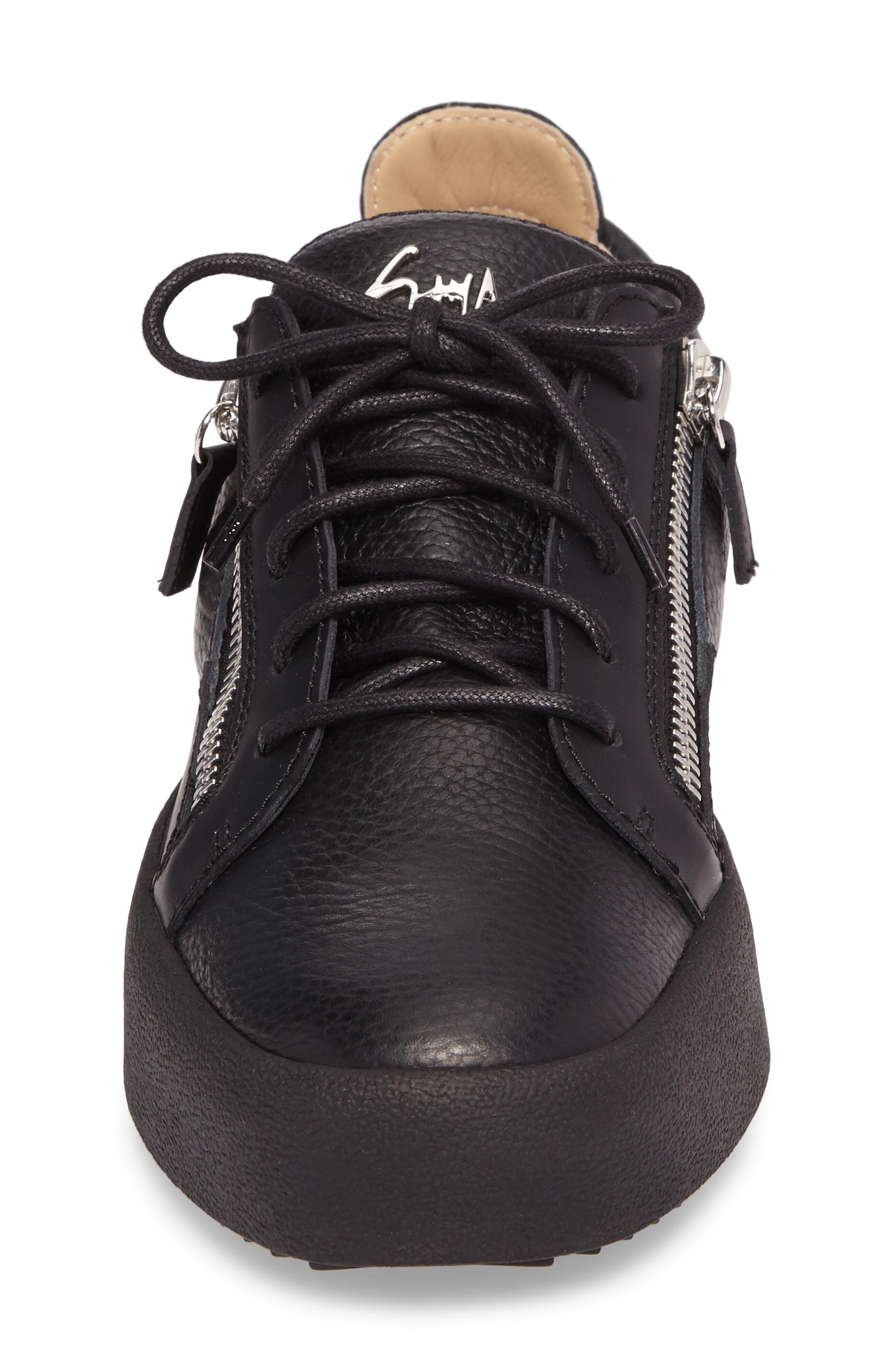 Low-Top Sneaker,                             Alternate thumbnail 4, color,                             Black