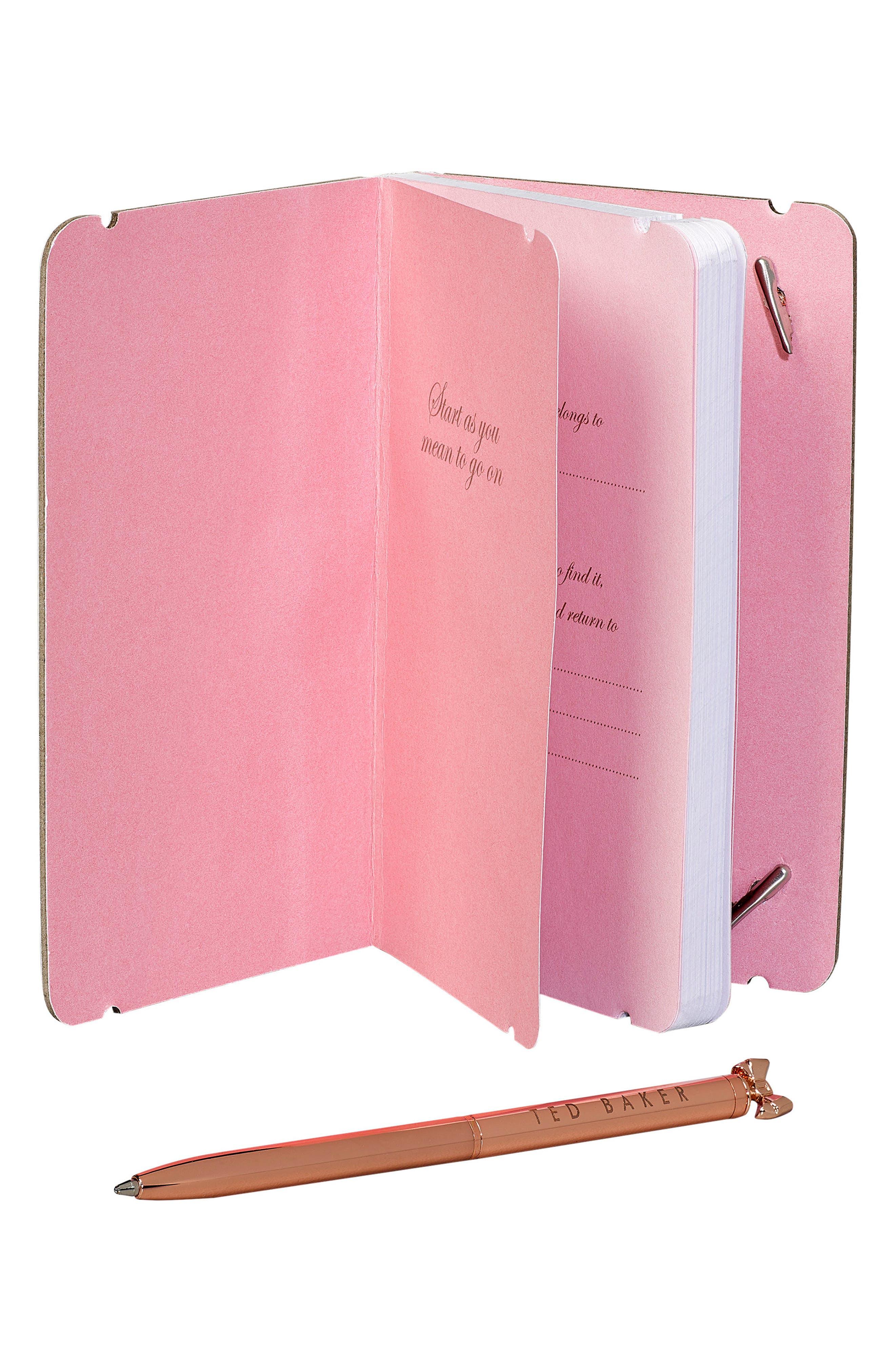 Mini Notebook & Pen Set,                             Alternate thumbnail 3, color,                             Chelsea Border