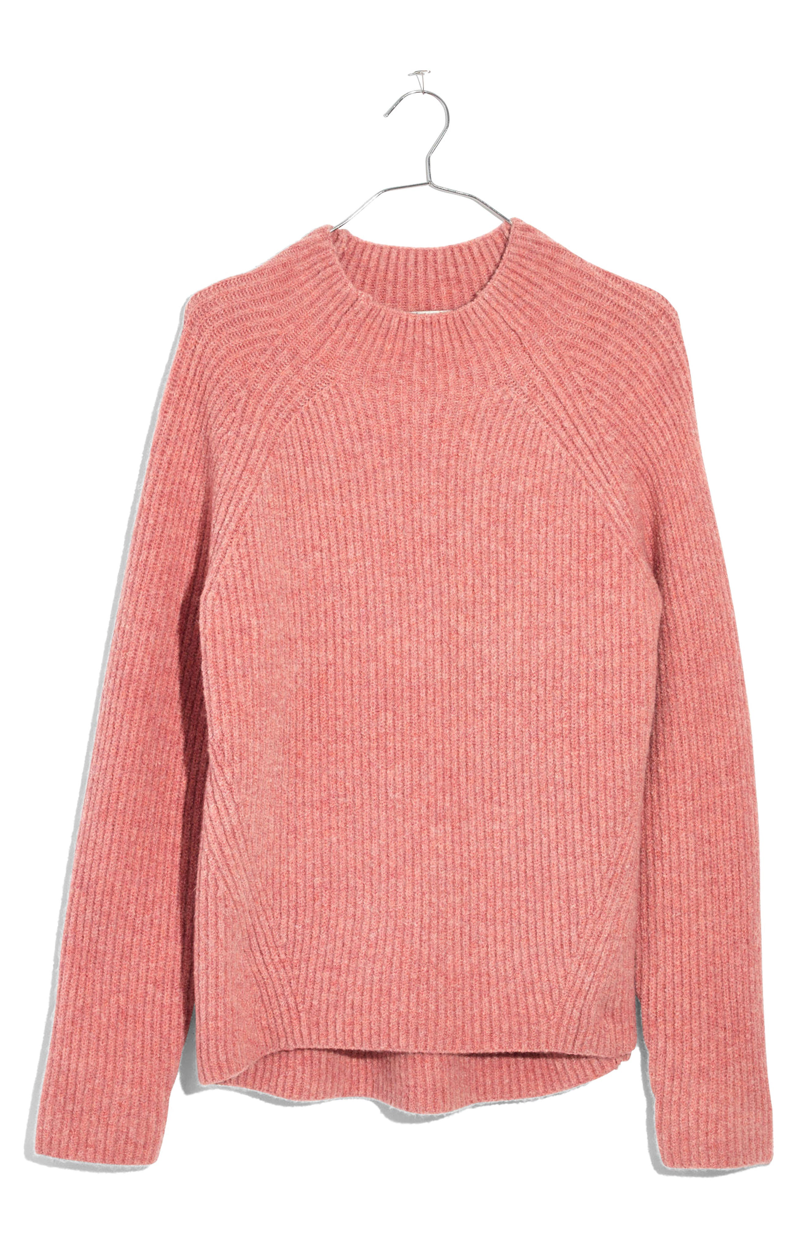 Northfield Mock Neck Sweater,                         Main,                         color, Heather Poinsettia