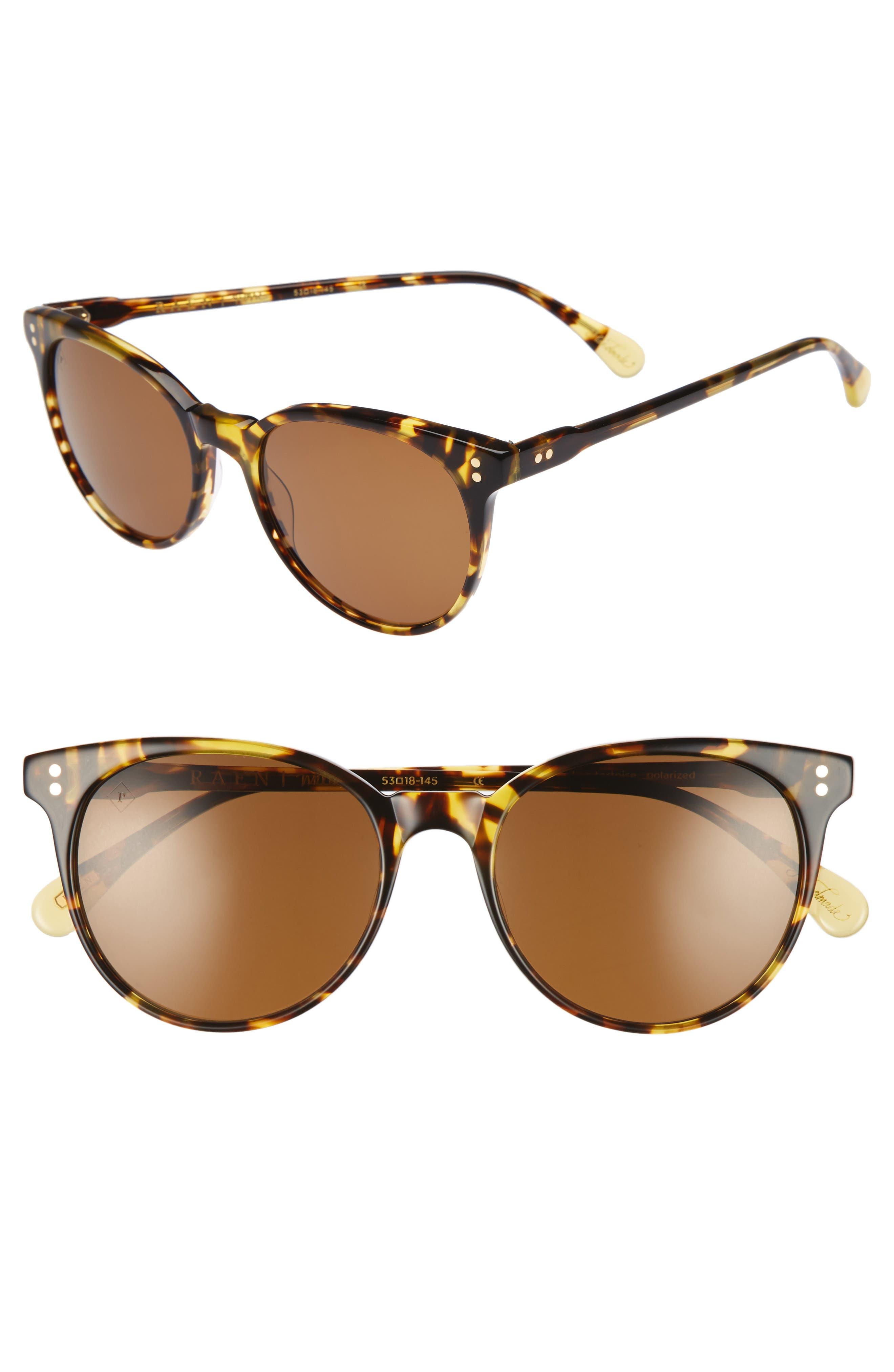 Norie 53mm Sunglasses,                         Main,                         color, Tokyo Tortoise/ Brown