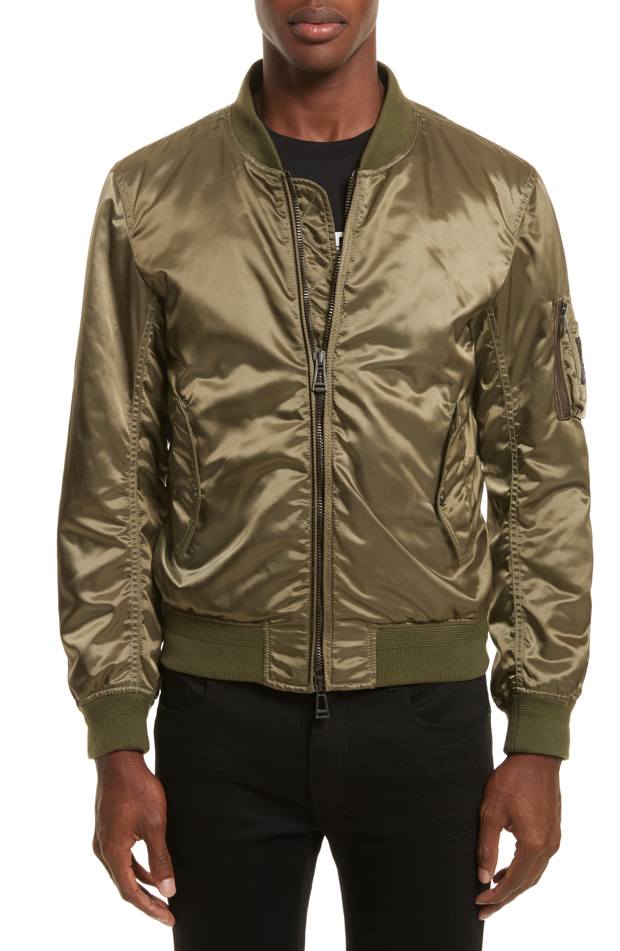 Washburn Bomber Jacket,                         Main,                         color, Slate Green