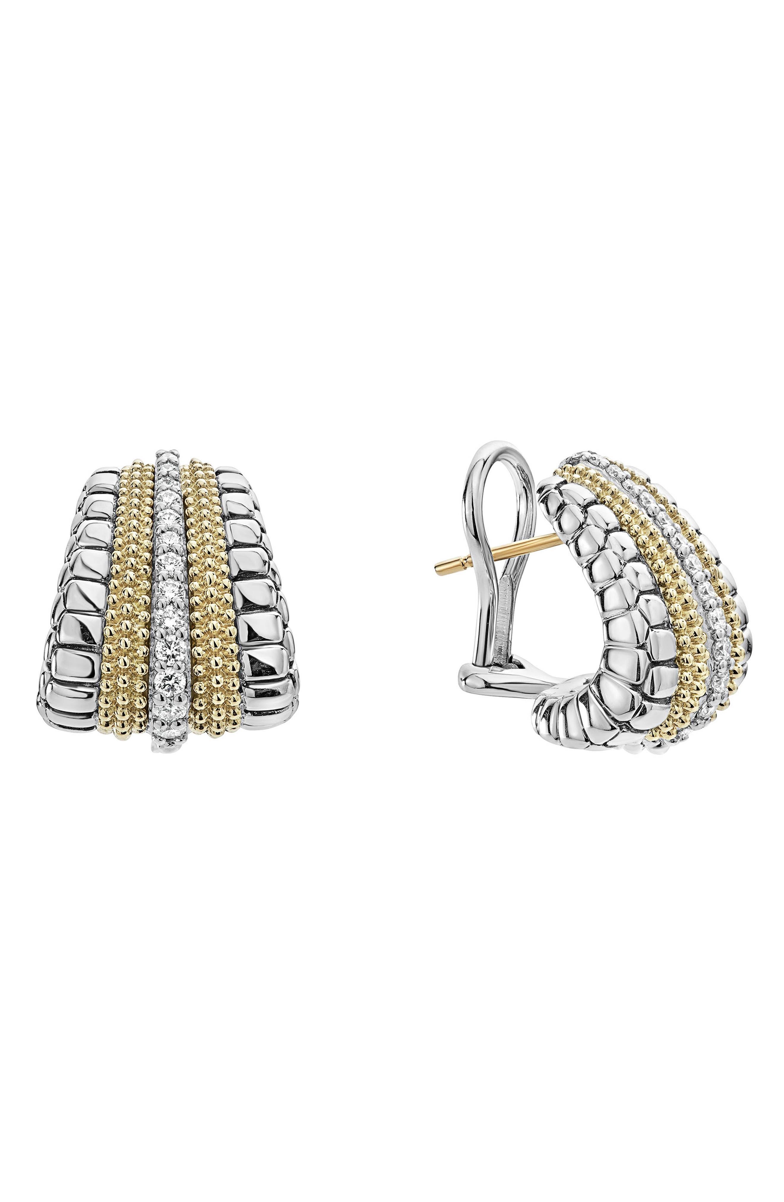 Diamond Lux Graduated Stud Earrings,                             Alternate thumbnail 3, color,                             Diamond