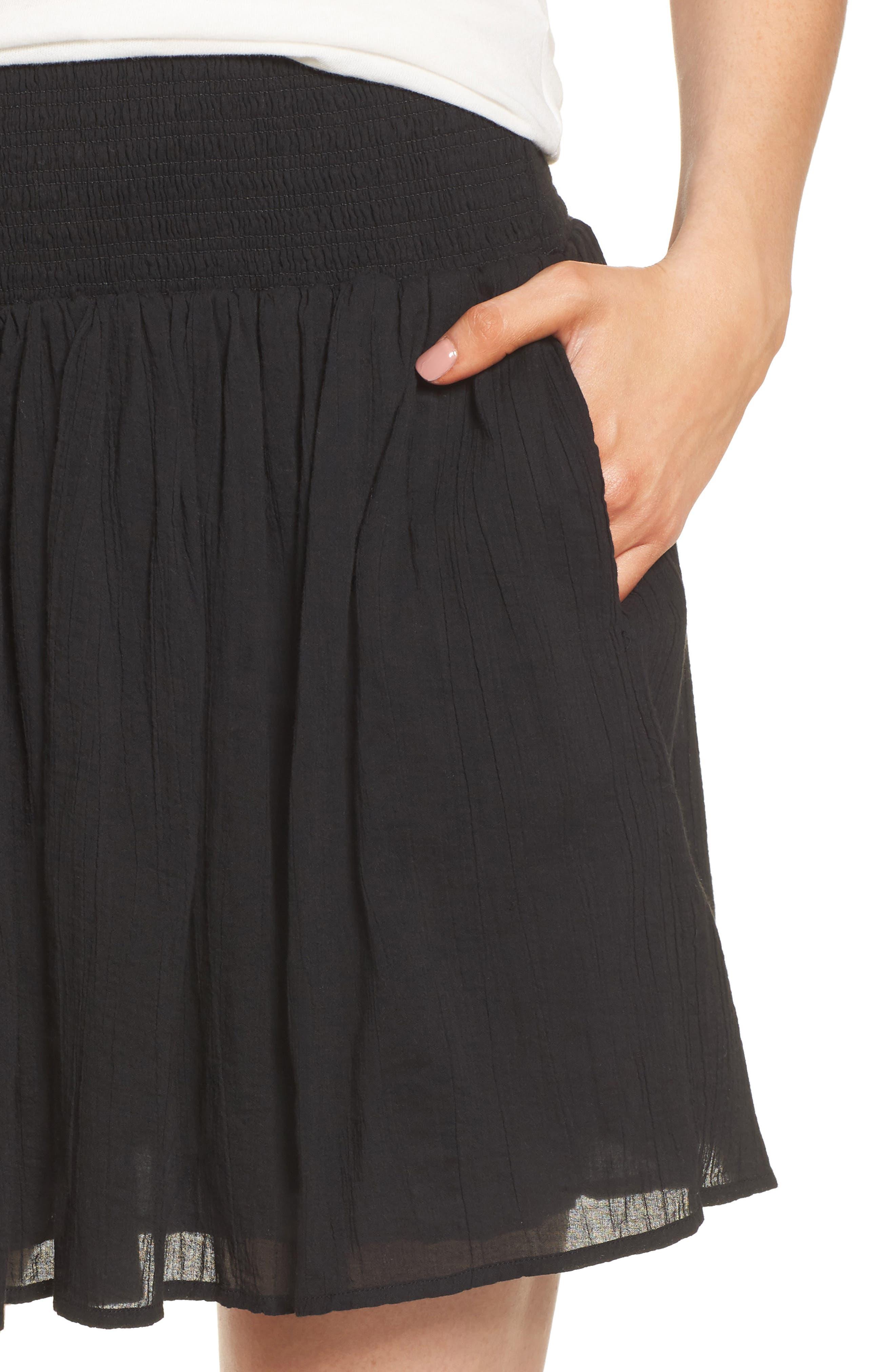Alternate Image 4  - James Perse Smocked Cotton Skirt