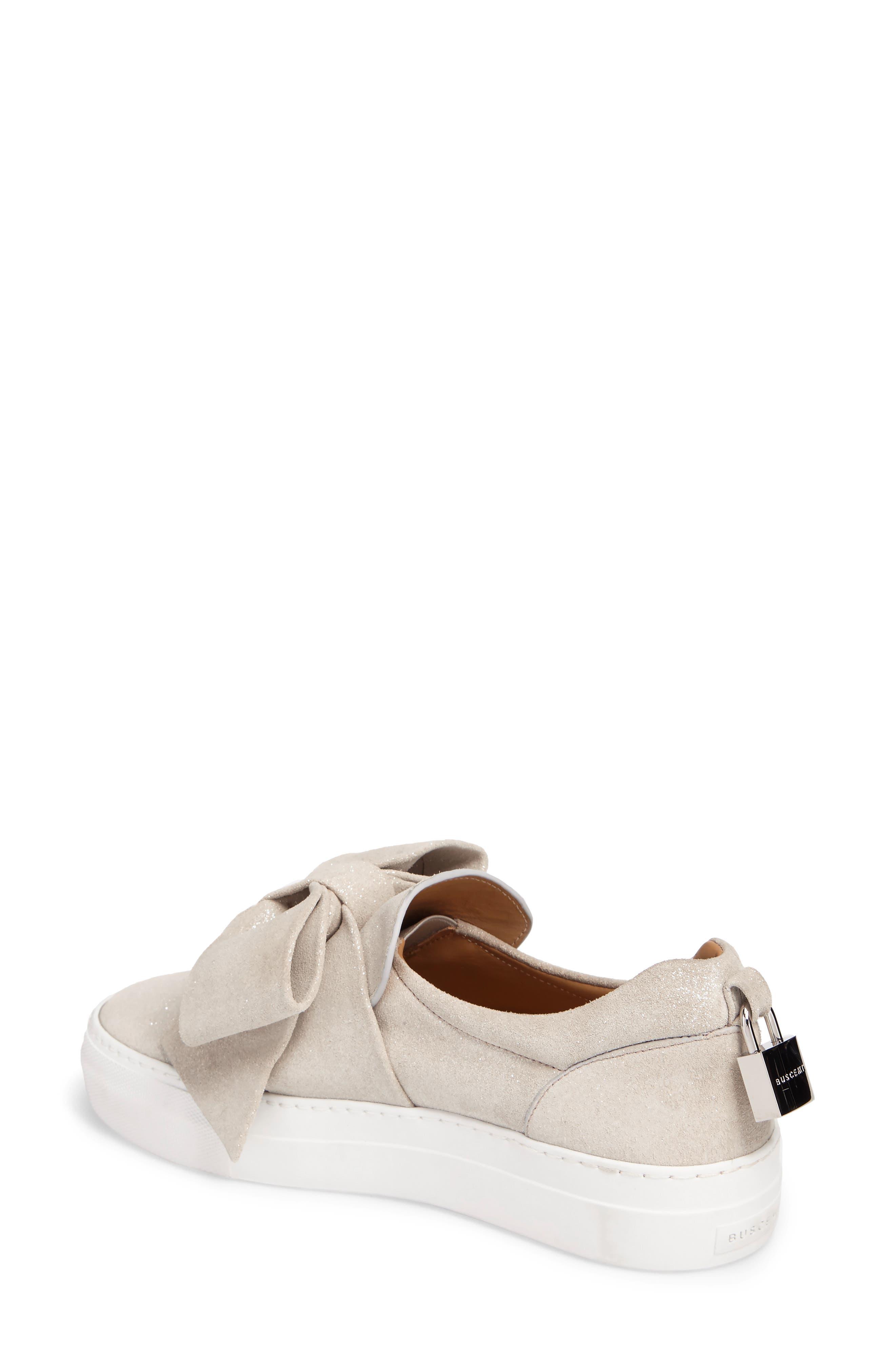 Bow Slip-On Sneaker,                             Alternate thumbnail 2, color,                             Gleam Grey