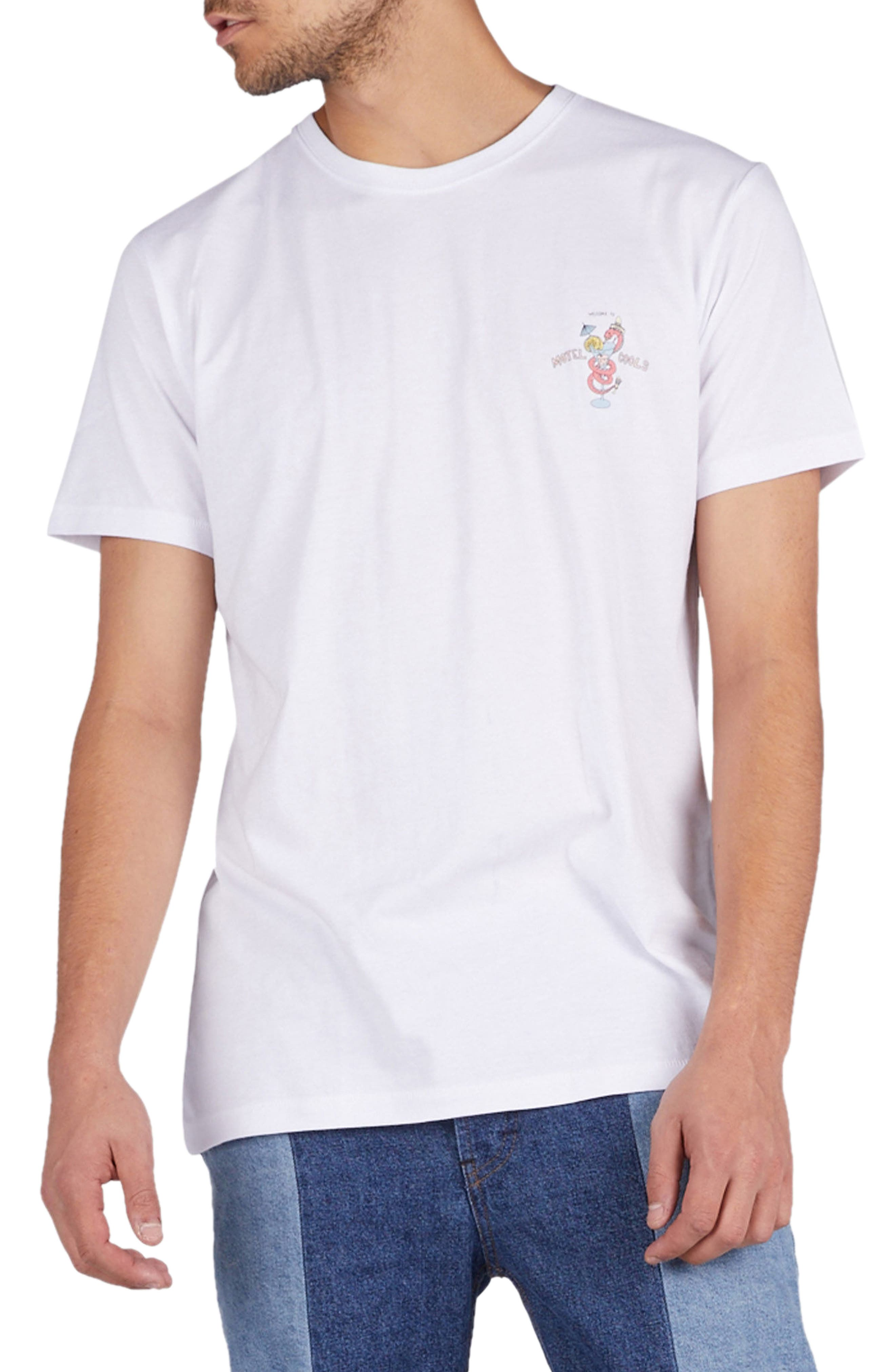 Snake Graphic T-Shirt,                         Main,                         color, White