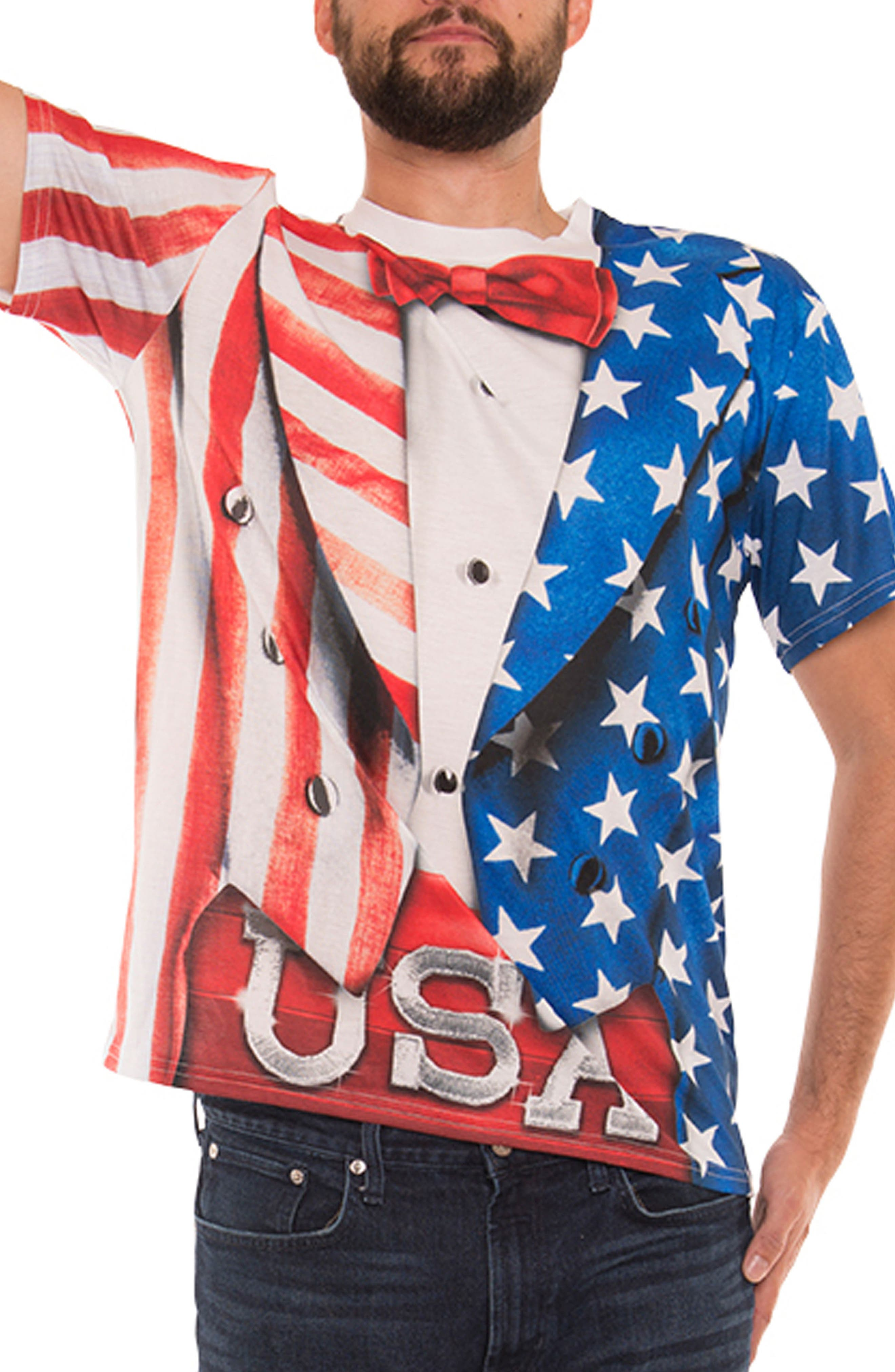 Faux Real USA Tux Costume T-Shirt