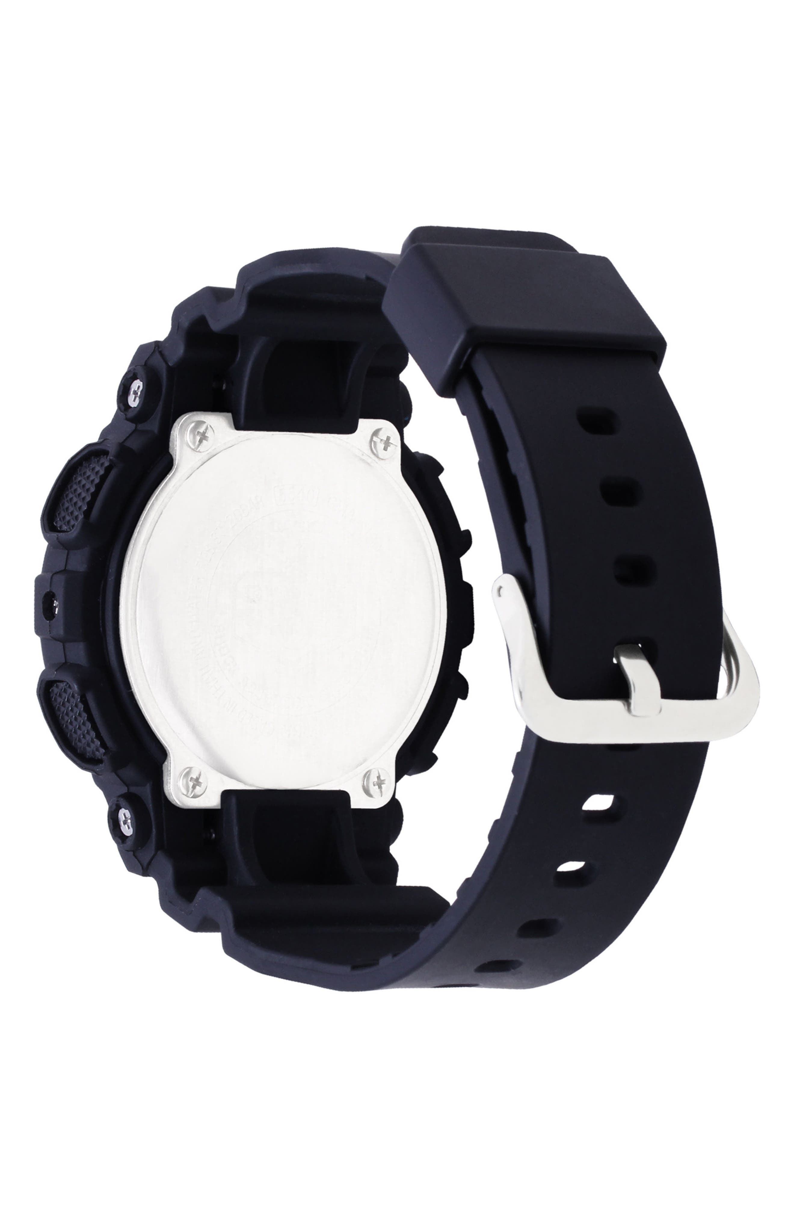 S-Series Resin Ana-Digi Watch, 46mm,                             Alternate thumbnail 3, color,                             Black