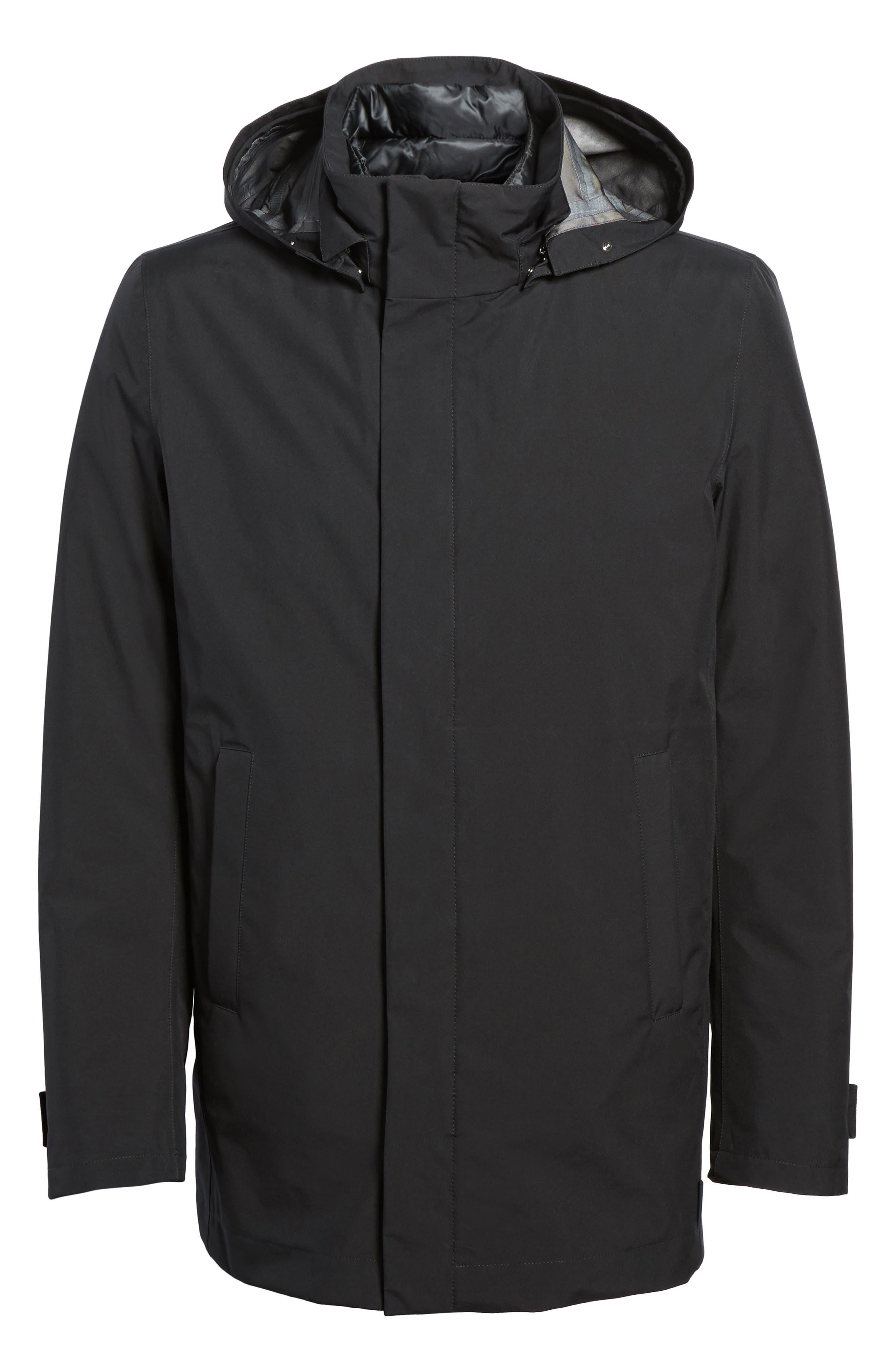 Laminar 3-in-1 Gore-Tex<sup>®</sup> Car Coat,                             Alternate thumbnail 6, color,                             Black