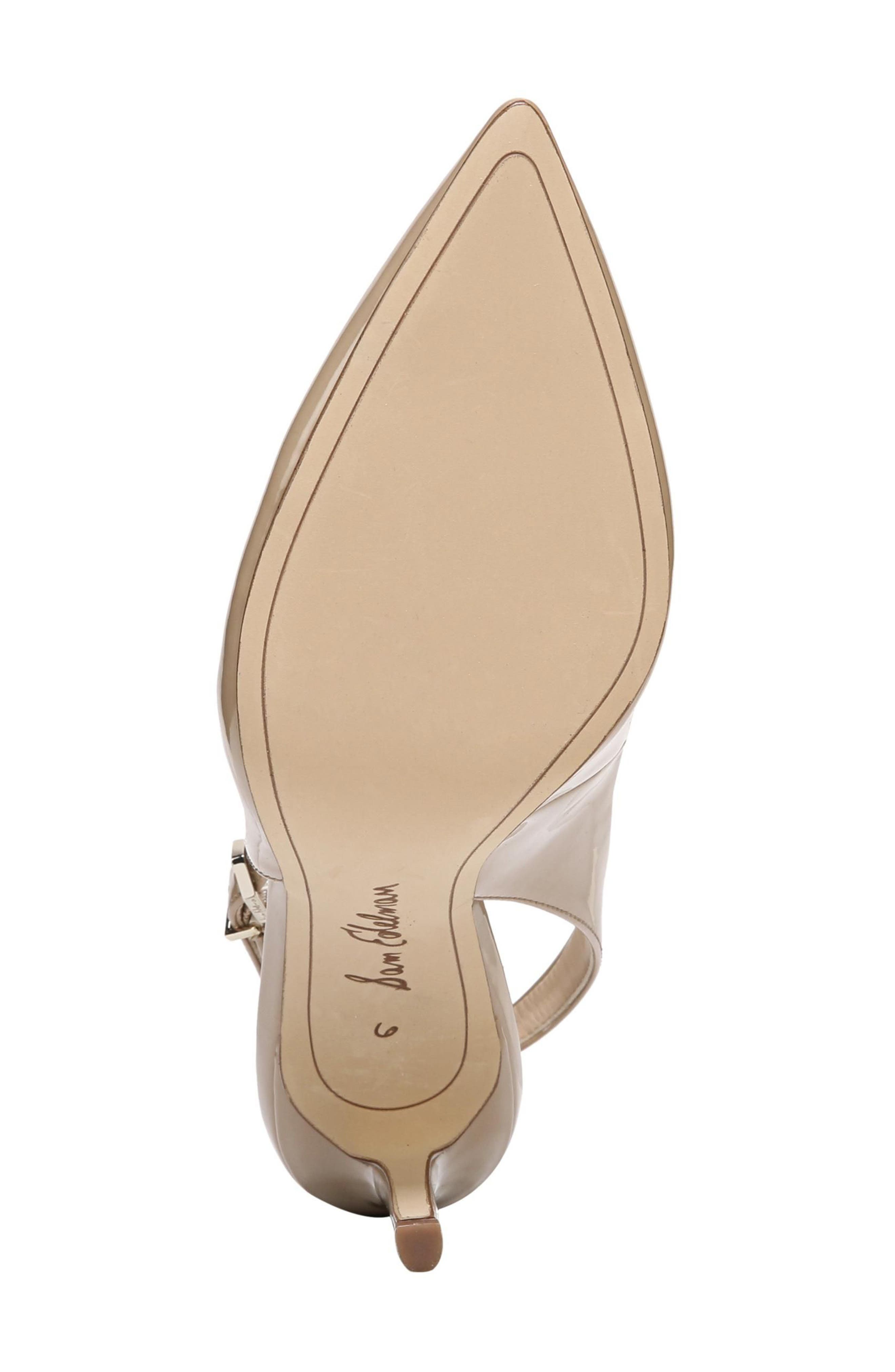 Hastings Slingback Pump,                             Alternate thumbnail 6, color,                             Classic Nude Patent Leather