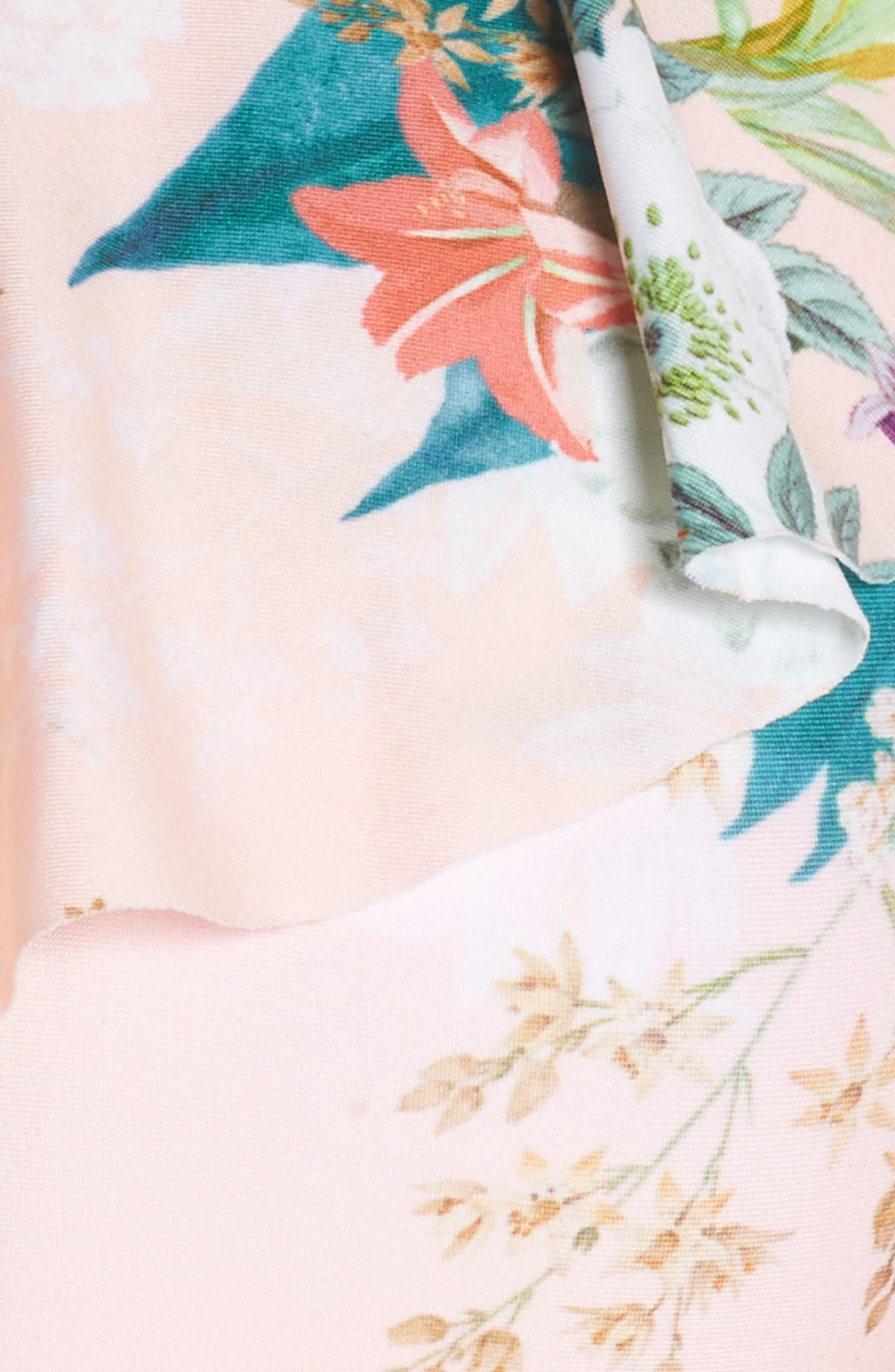 Alternate Image 5  - Isabella Rose Blossoms Asymmetrical Bikini Top