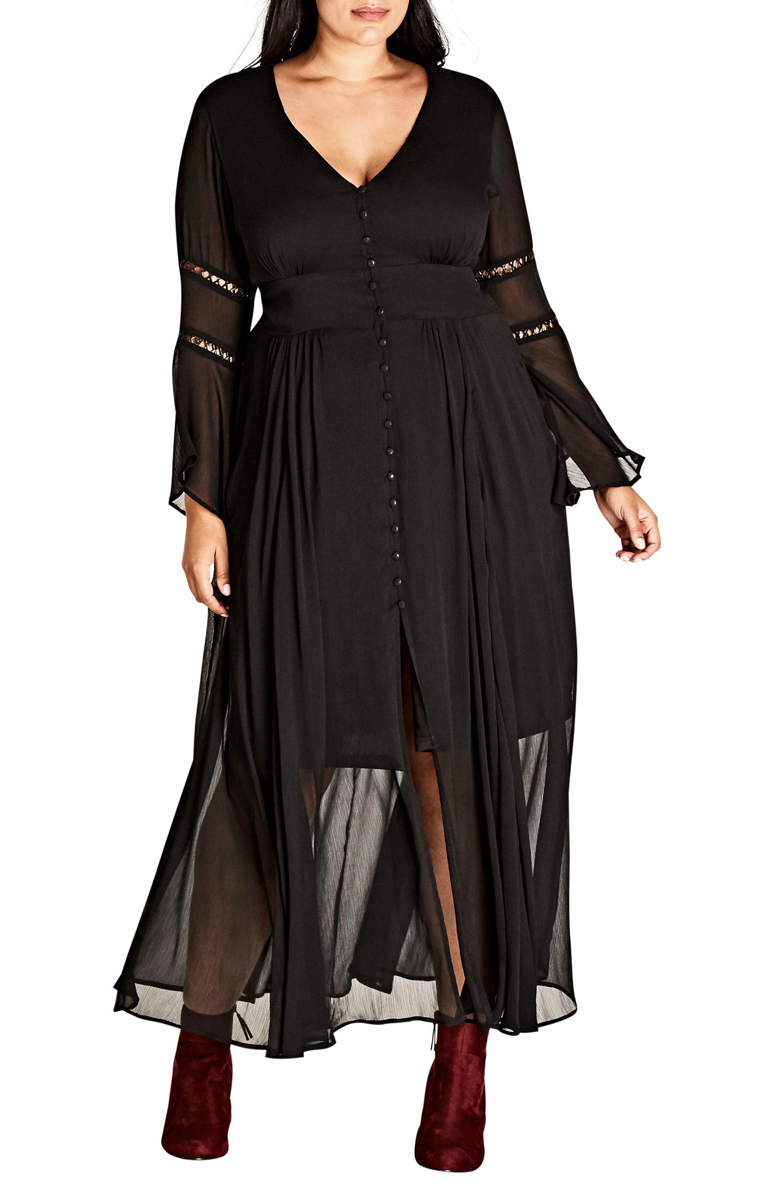 Voodoo Vixen Maxi Dress,                         Main,                         color, Black