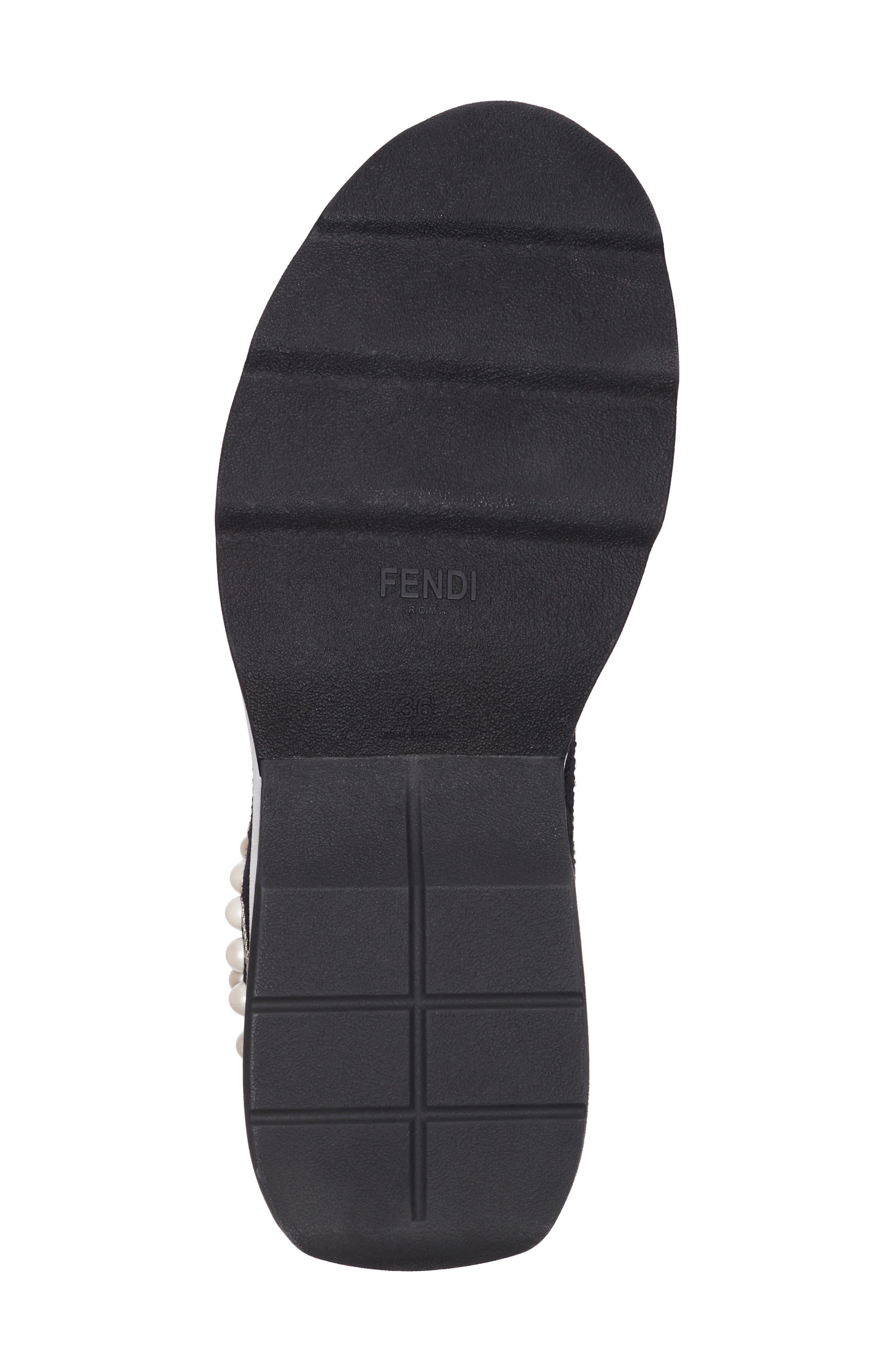Rockoko Pearland Embellished Sock Sneaker,                             Alternate thumbnail 6, color,                             Black