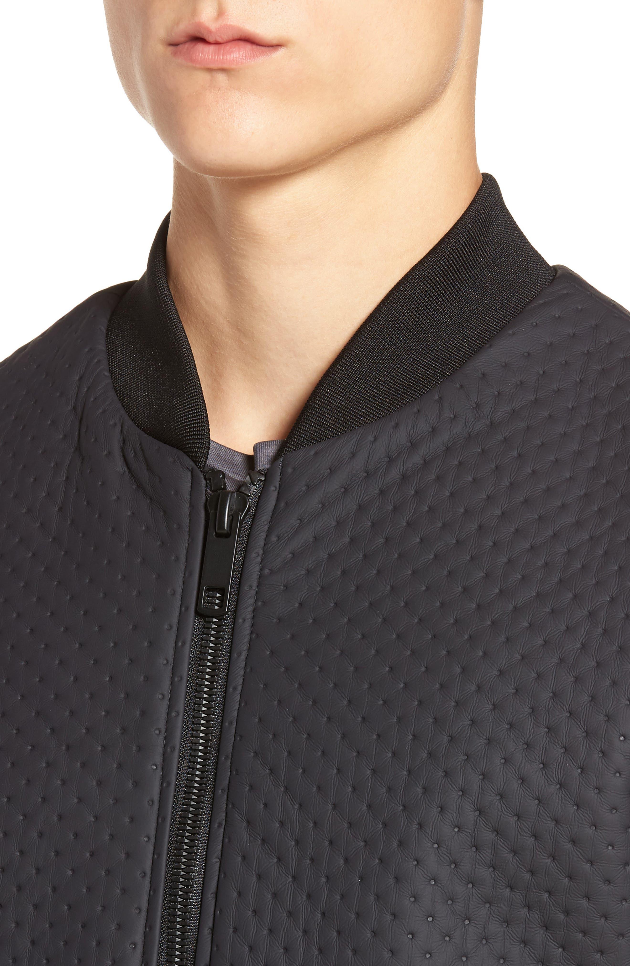 Faux Leather Jacket,                             Alternate thumbnail 4, color,                             Loud Blue