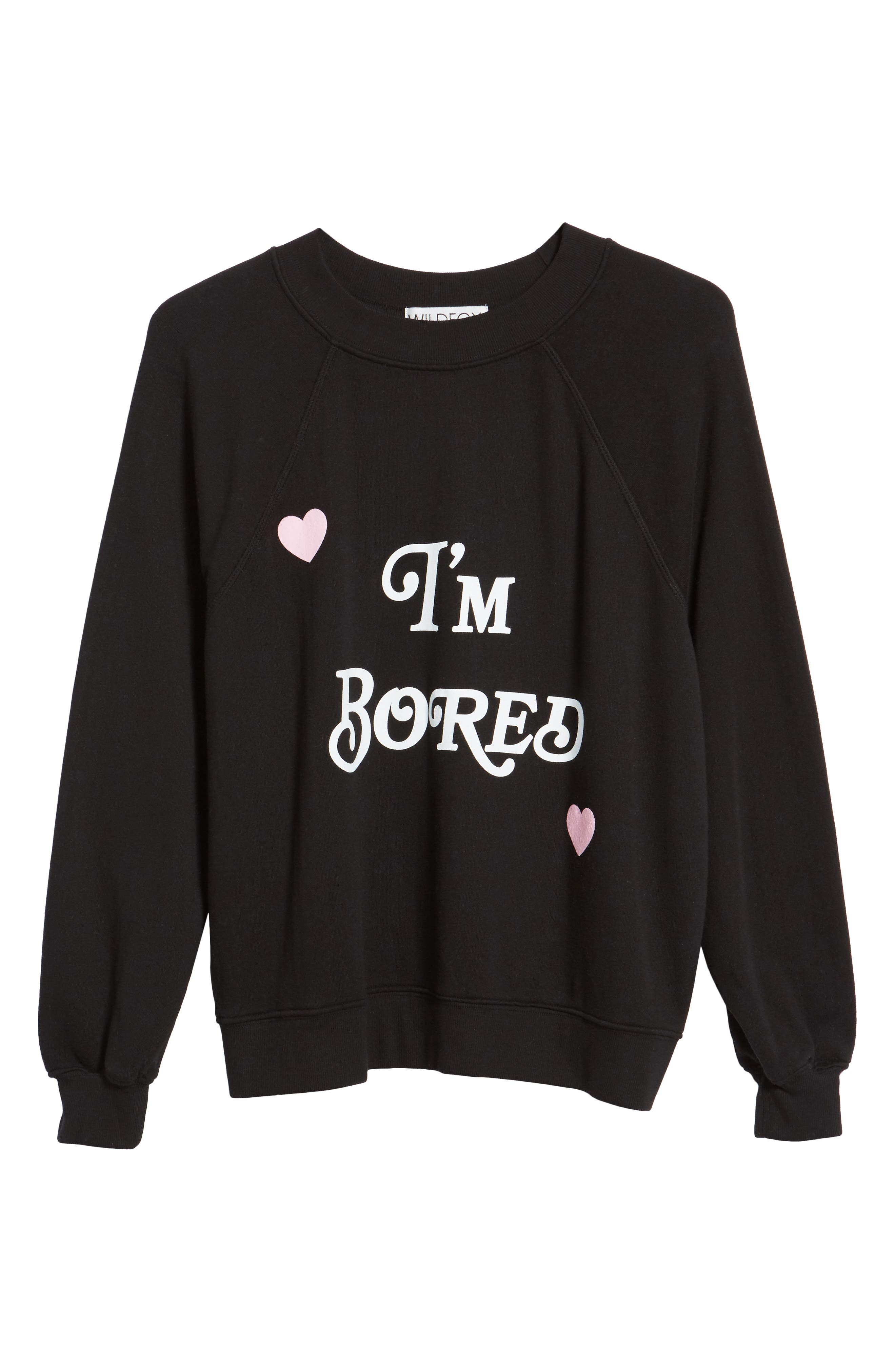 I'm Bored Sommers Sweatshirt,                             Alternate thumbnail 6, color,                             Black
