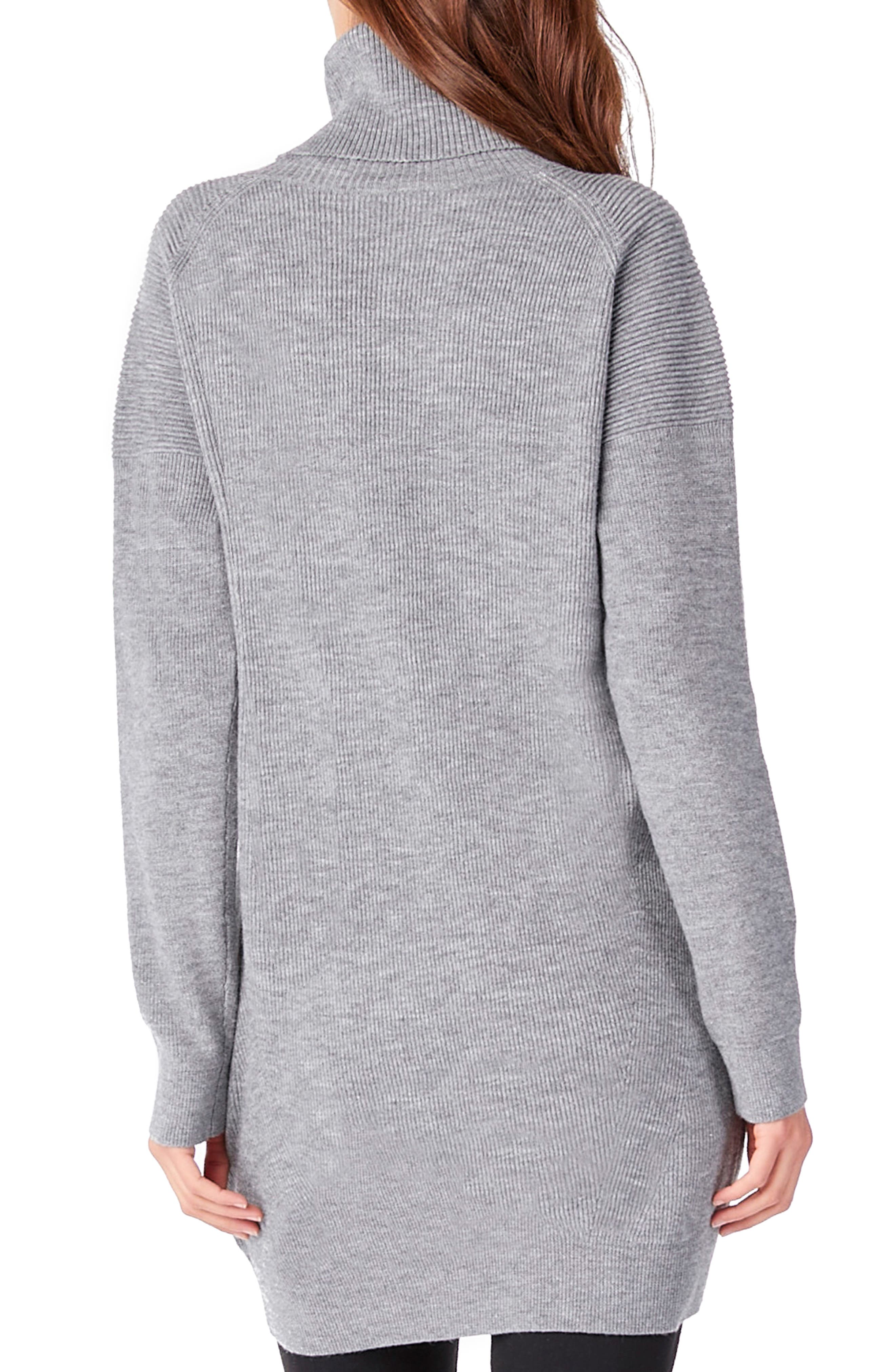 Cowl Neck Tunic,                             Alternate thumbnail 2, color,                             Heather Grey