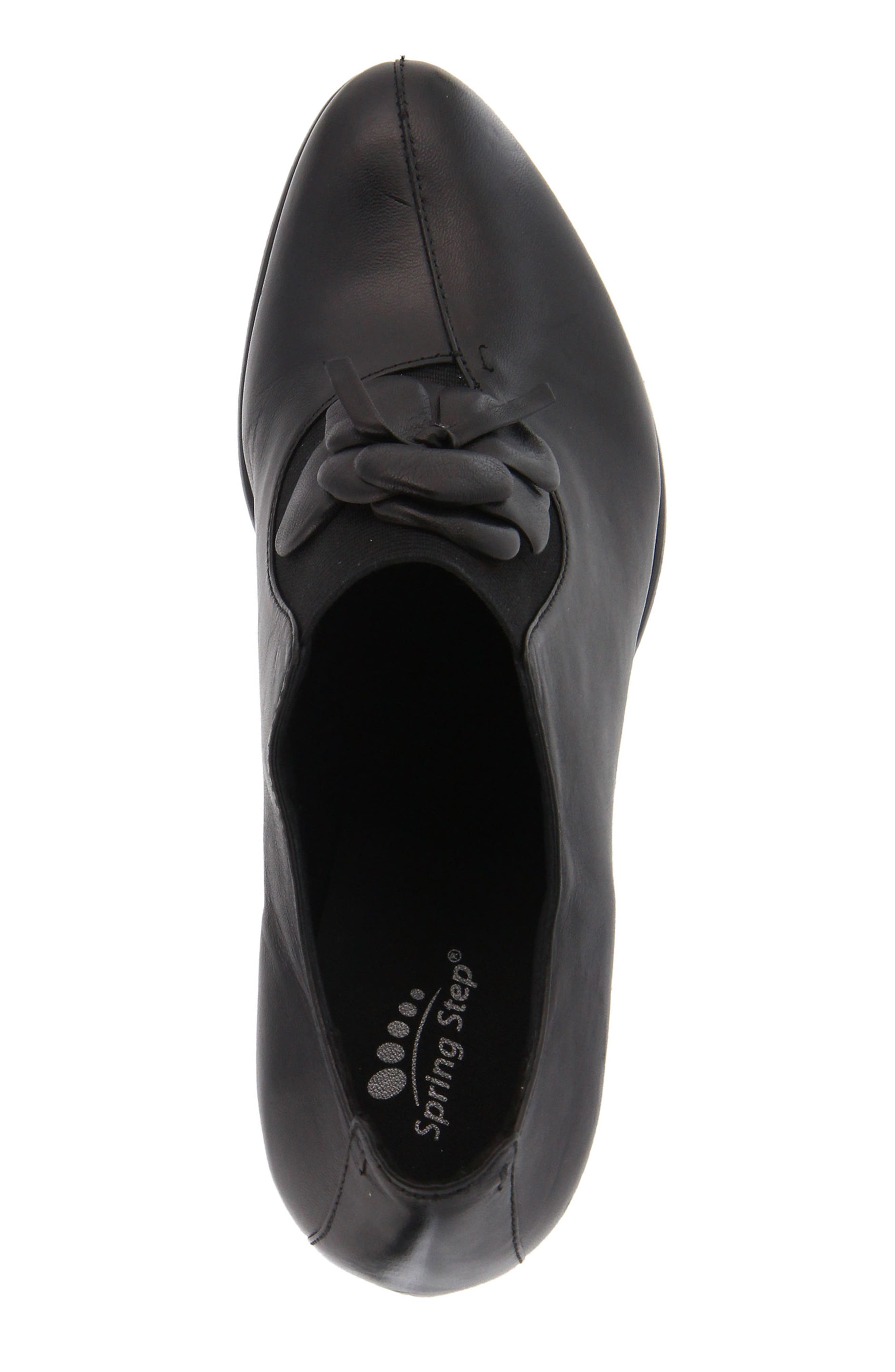 Evelina Pump,                             Alternate thumbnail 4, color,                             Black Leather