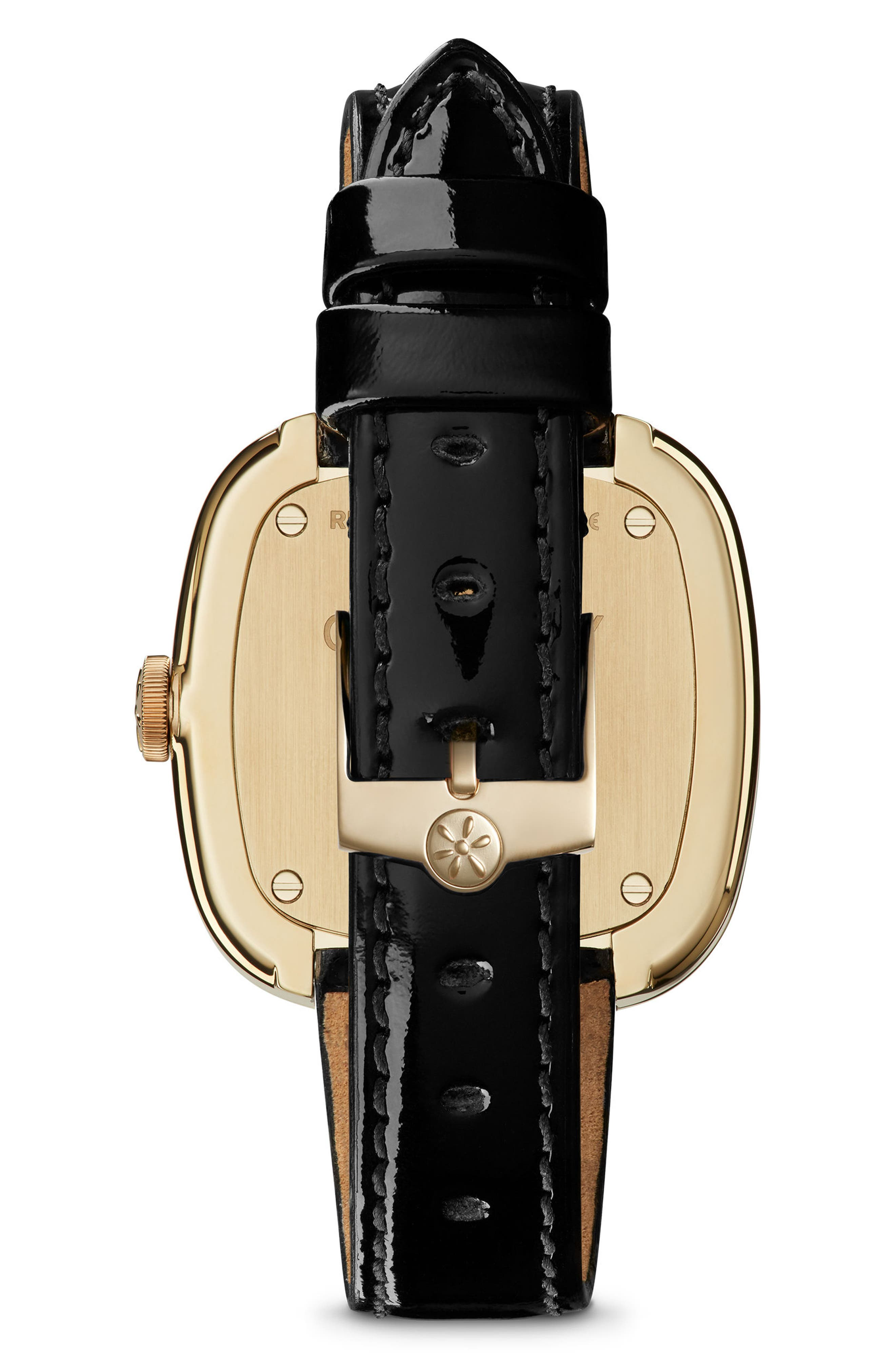 The Eppie Sneed Leather Strap Watch, 32mm,                             Alternate thumbnail 2, color,                             Black/ Sandstone/ Gold