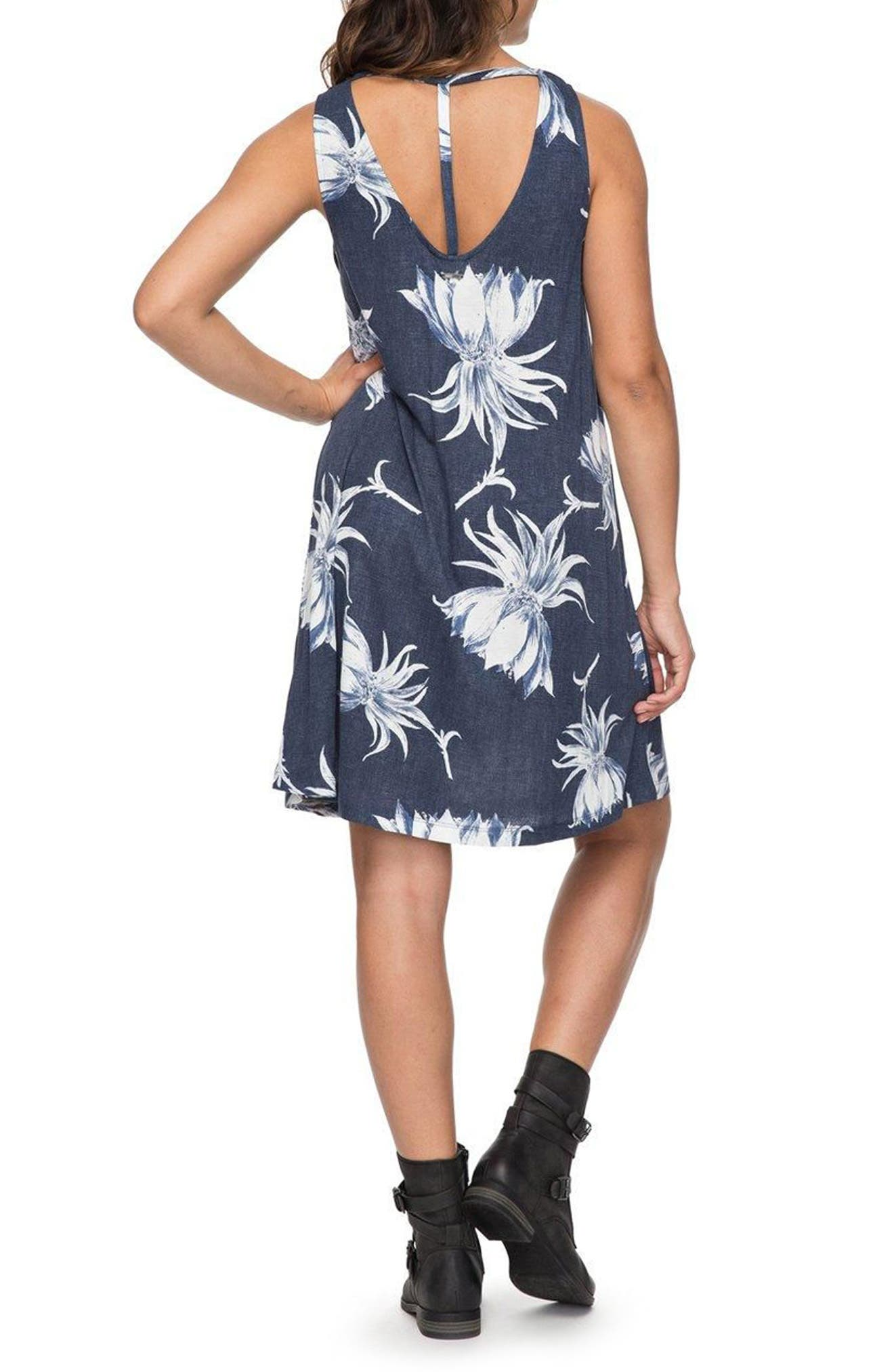 Sugar Space Shift Dress,                             Alternate thumbnail 2, color,                             Dress Blue Cadaques Flower