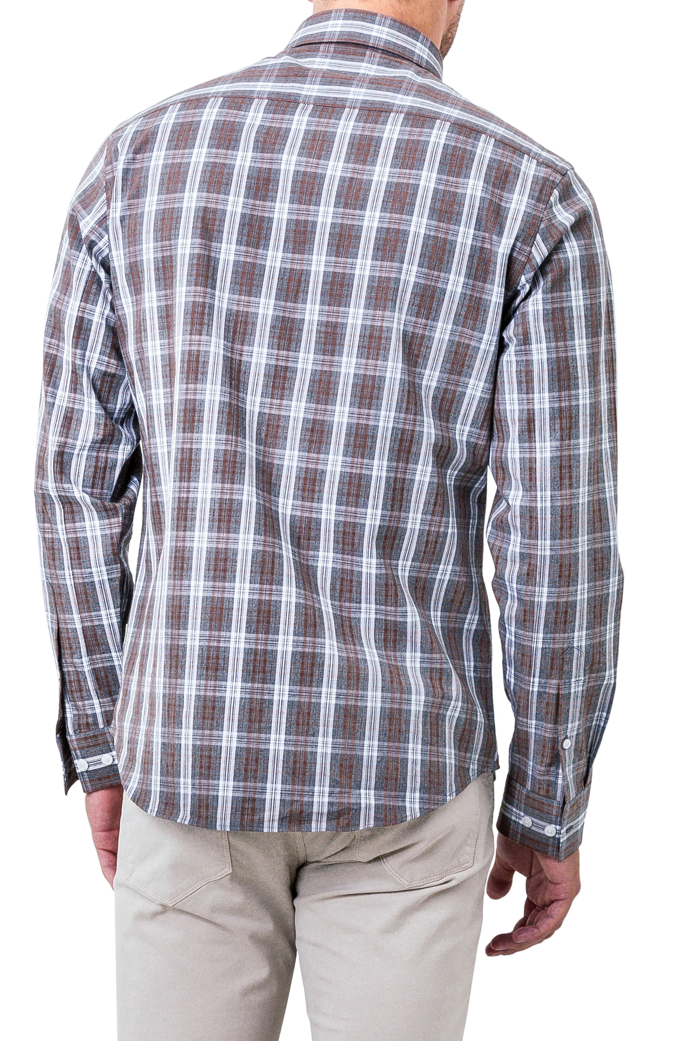 Majesty Plaid Woven Shirt,                             Alternate thumbnail 2, color,                             Brown