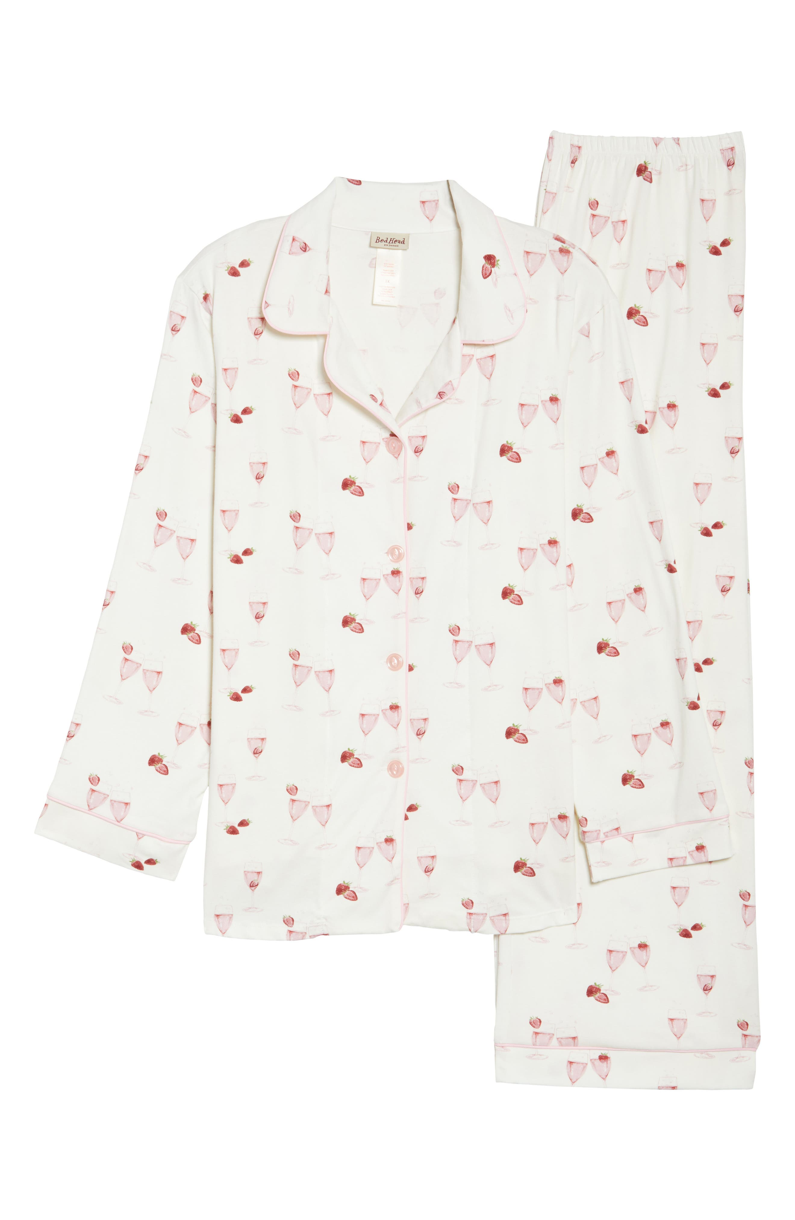 Alternate Image 4  - BedHead Strawberries & Champagne Print Pajamas (Plus Size)