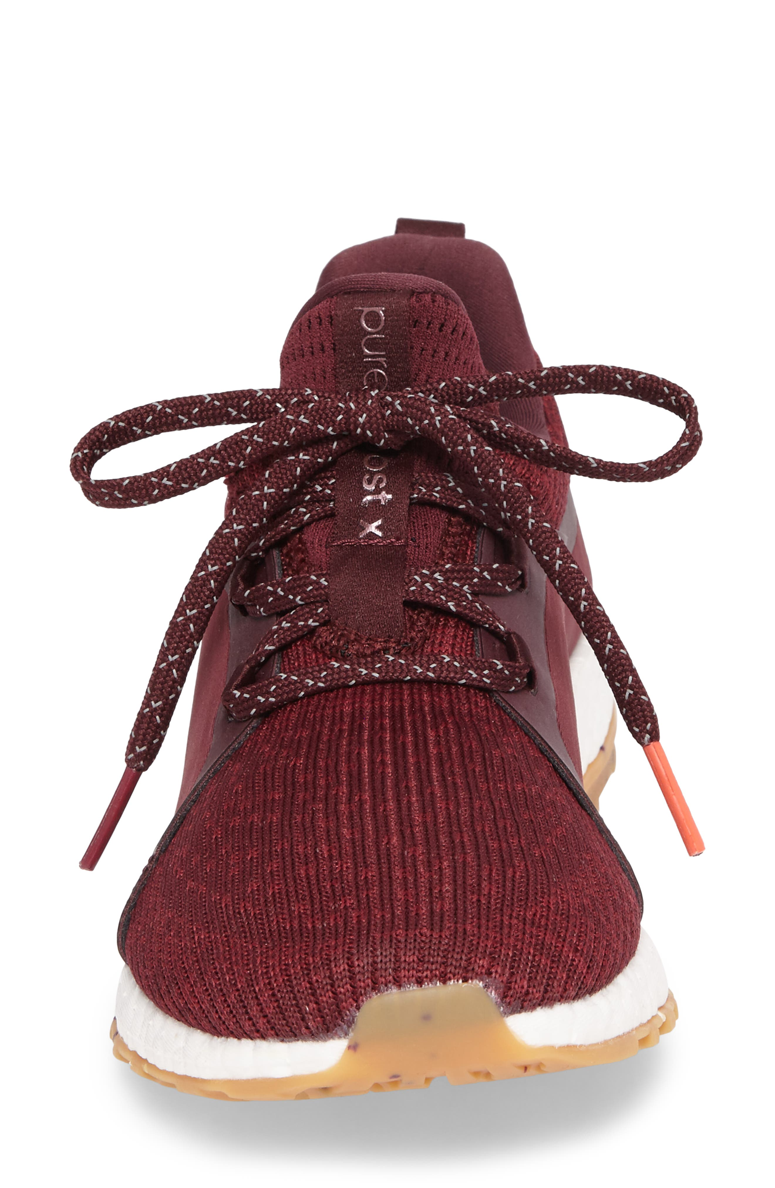 PureBoost X ATR Running Shoe,                             Alternate thumbnail 5, color,                             Red Night/ Ruby/ Easy Coral