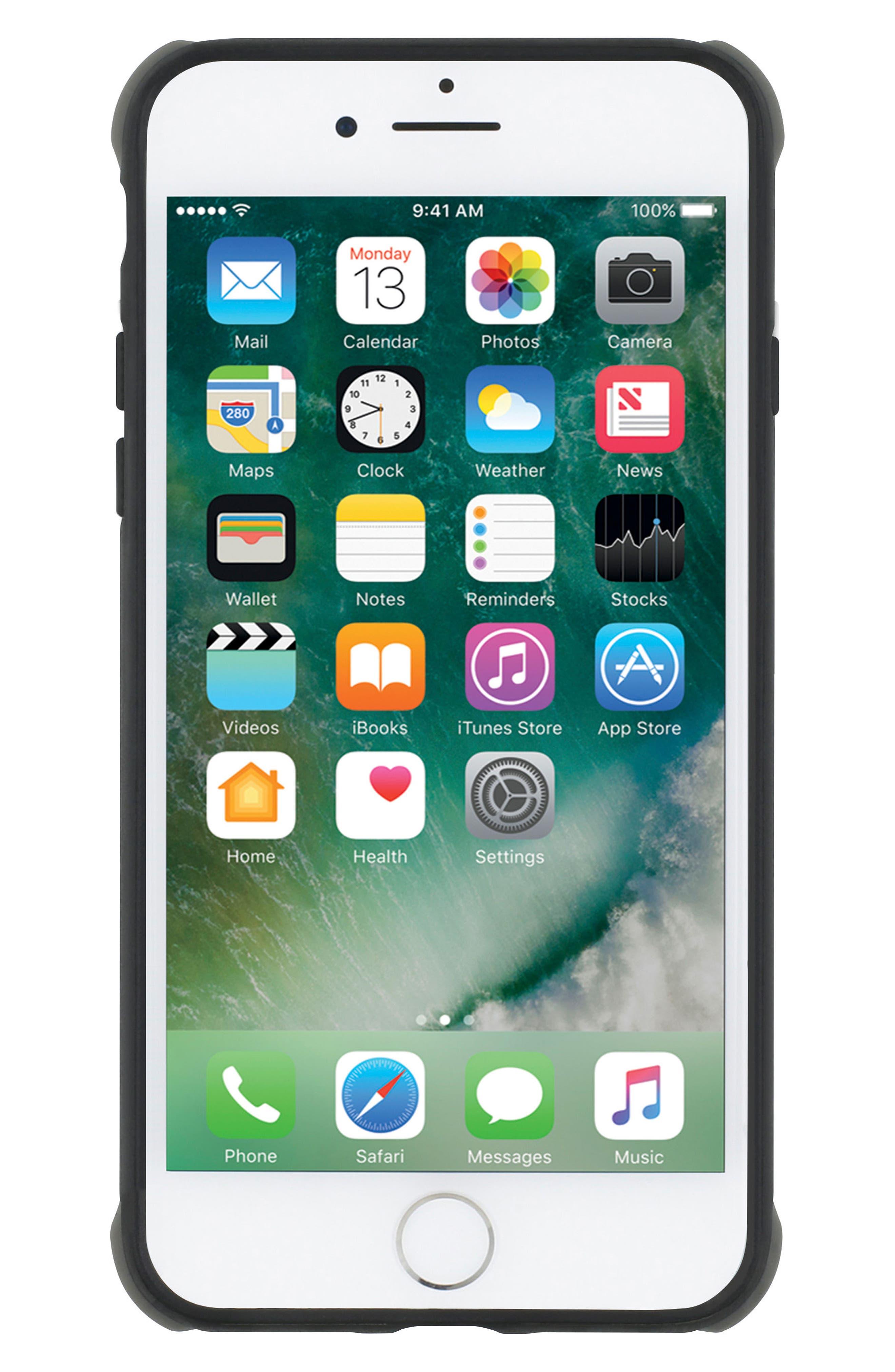 iPhone 8 Case,                             Alternate thumbnail 6, color,                             Matte Black/ Grey