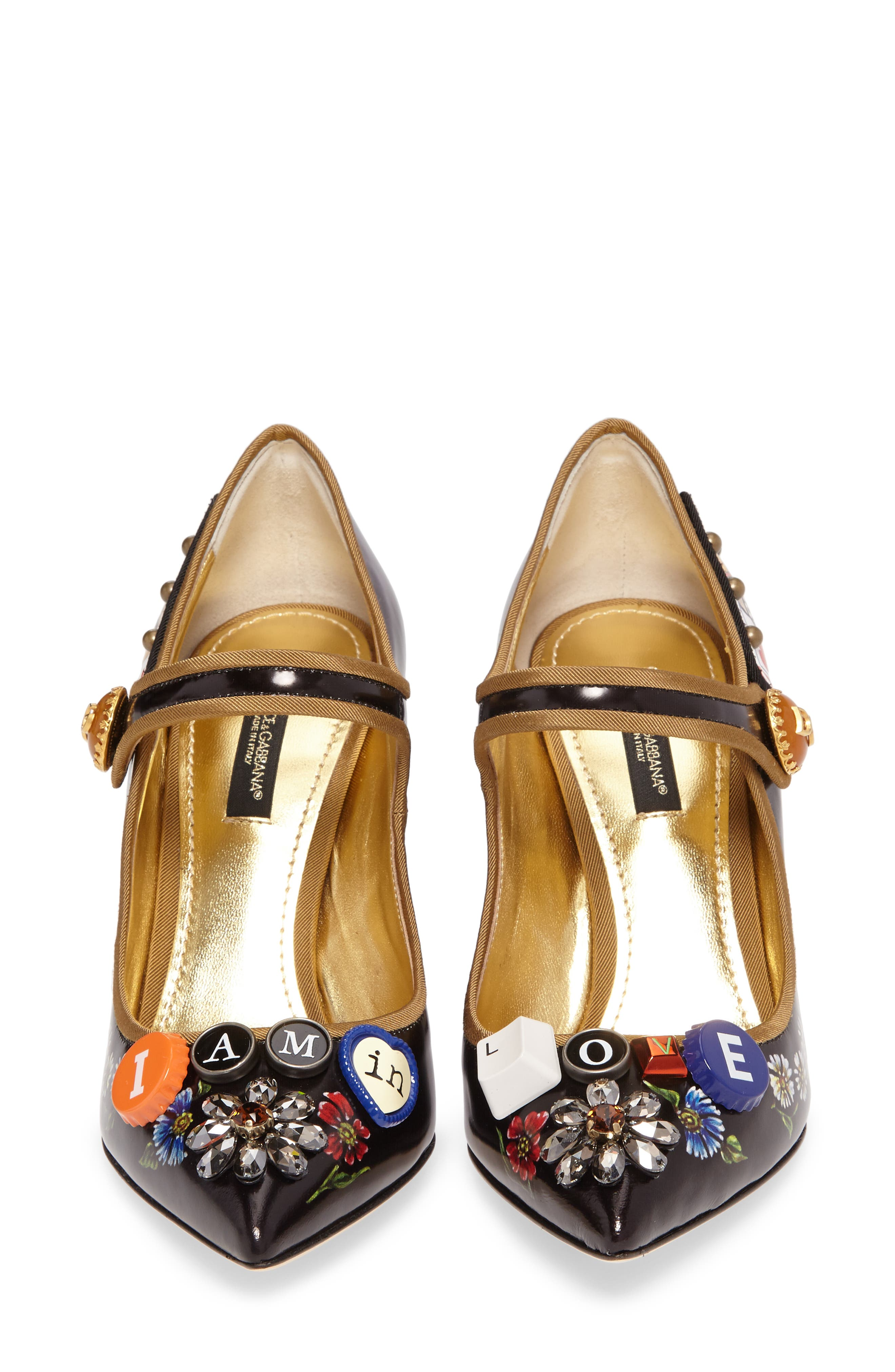 Alternate Image 5  - Dolce&Gabbana Embellished Mary Jane Pump (Women)