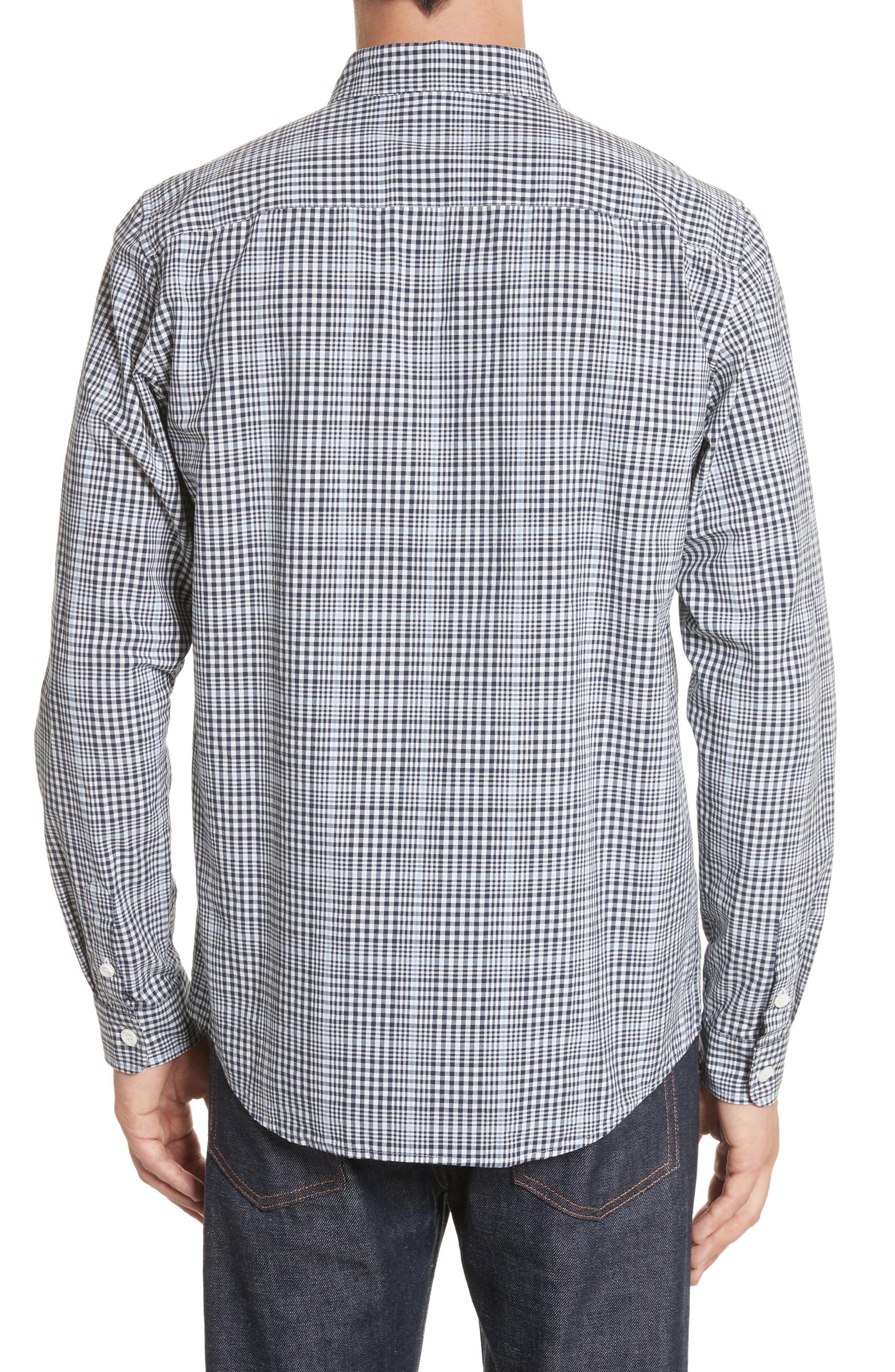 Alternate Image 2  - A.P.C. John Check Woven Shirt