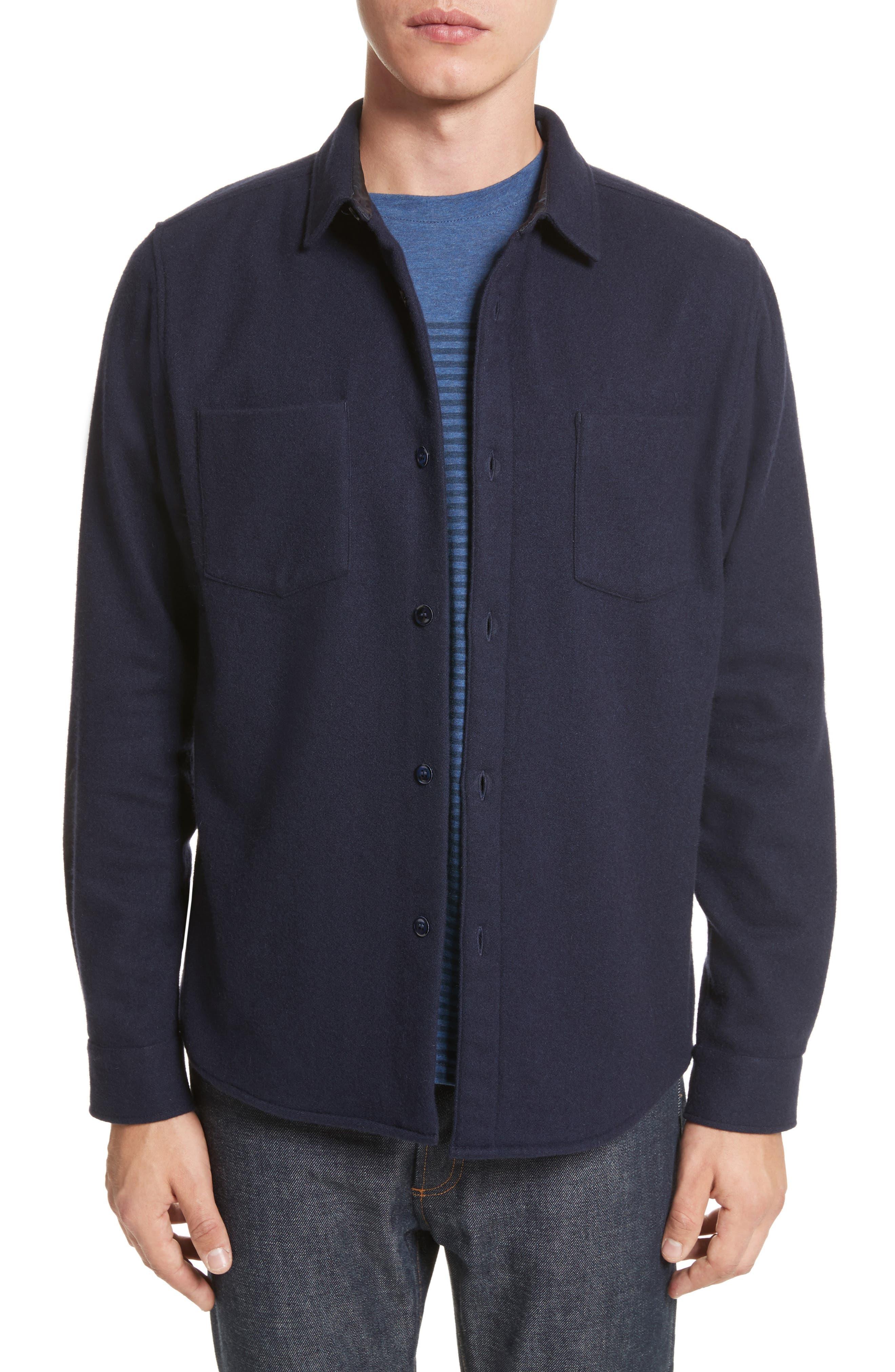 Main Image - A.P.C. Fritz Wool Blend Shirt Jacket
