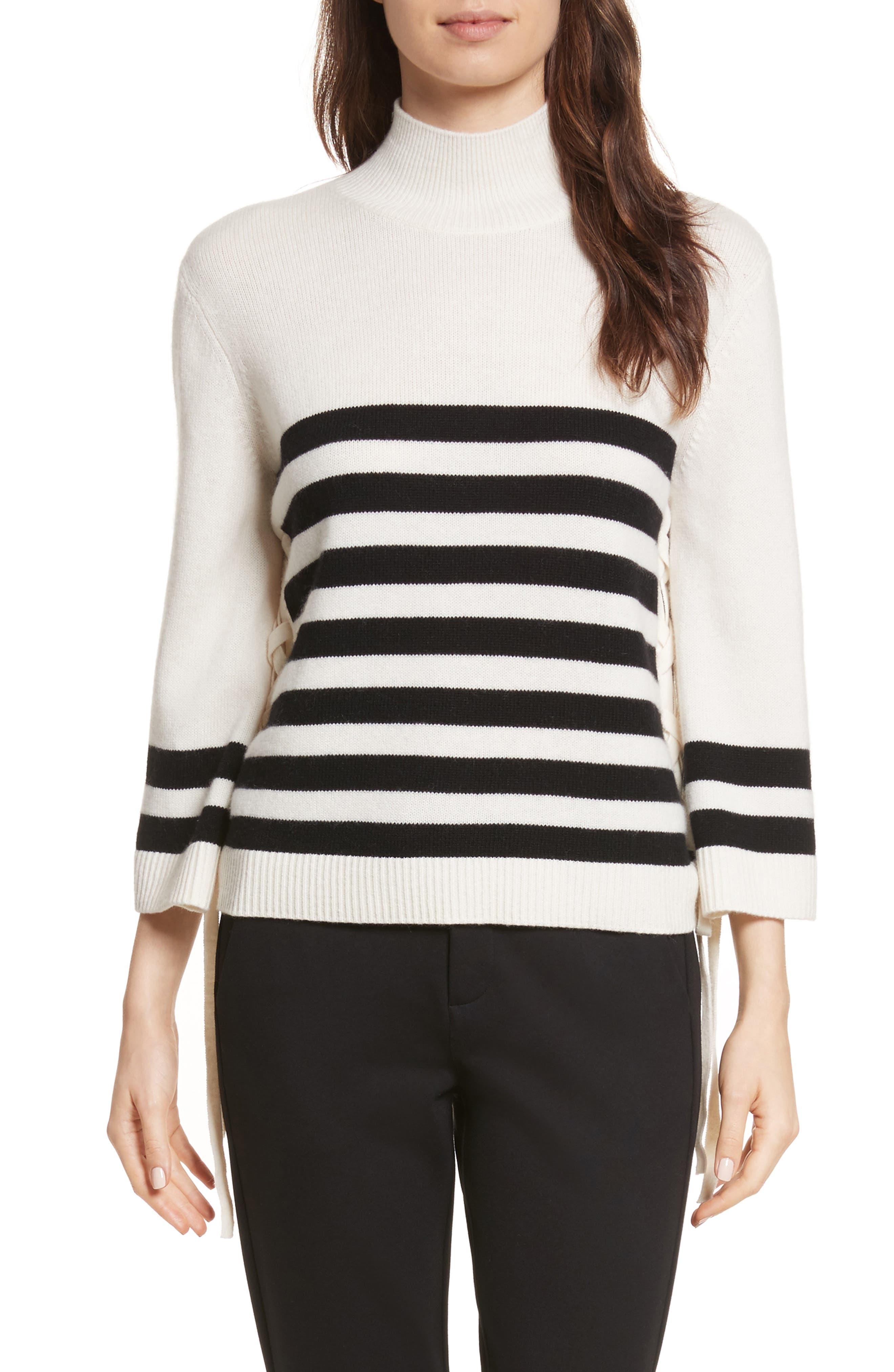 Lantz Mariner Sweater,                         Main,                         color, Porcelain/ Caviar