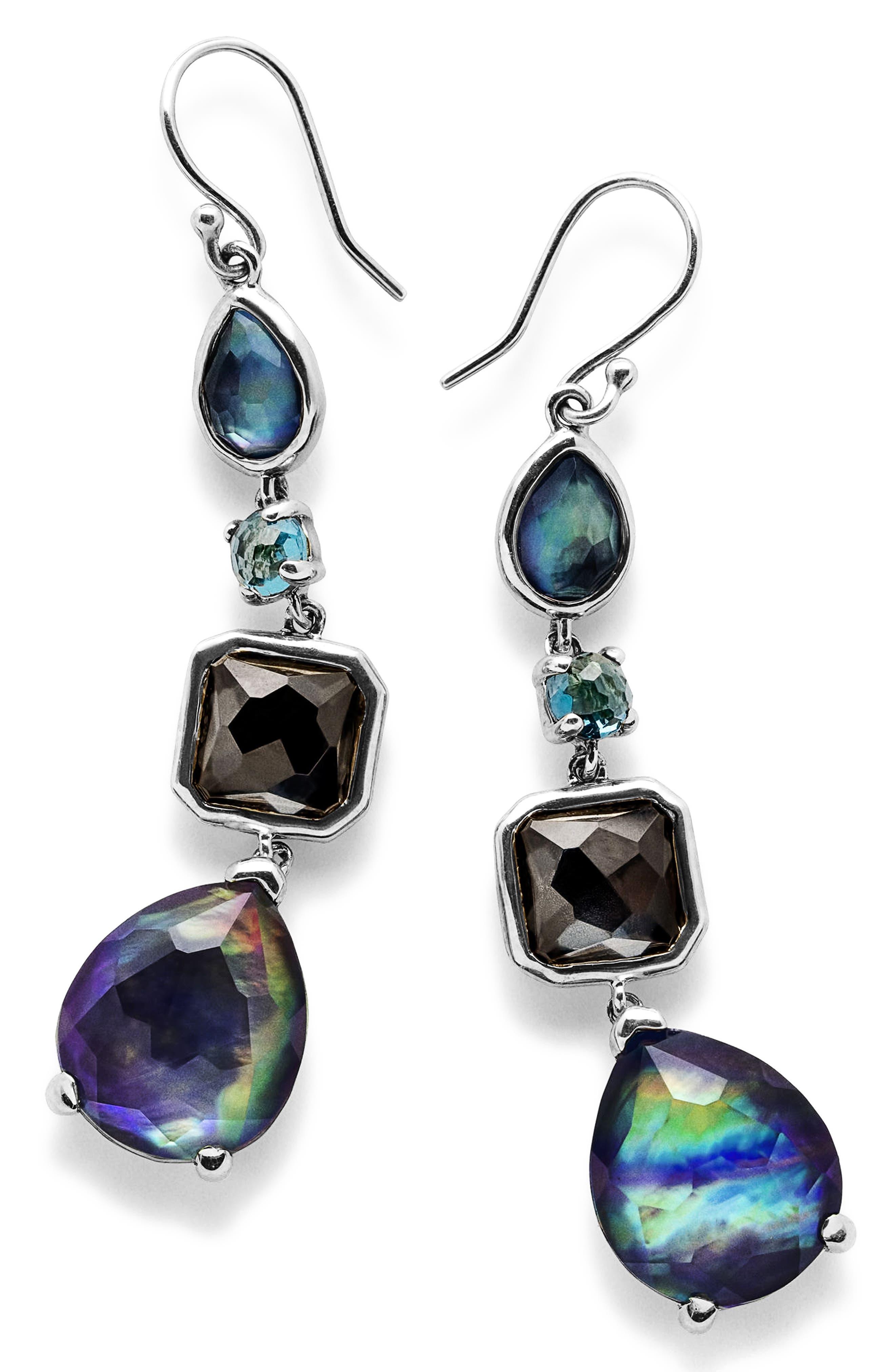 'Rock Candy' Linear Drop Earrings,                             Main thumbnail 1, color,                             Eclipse