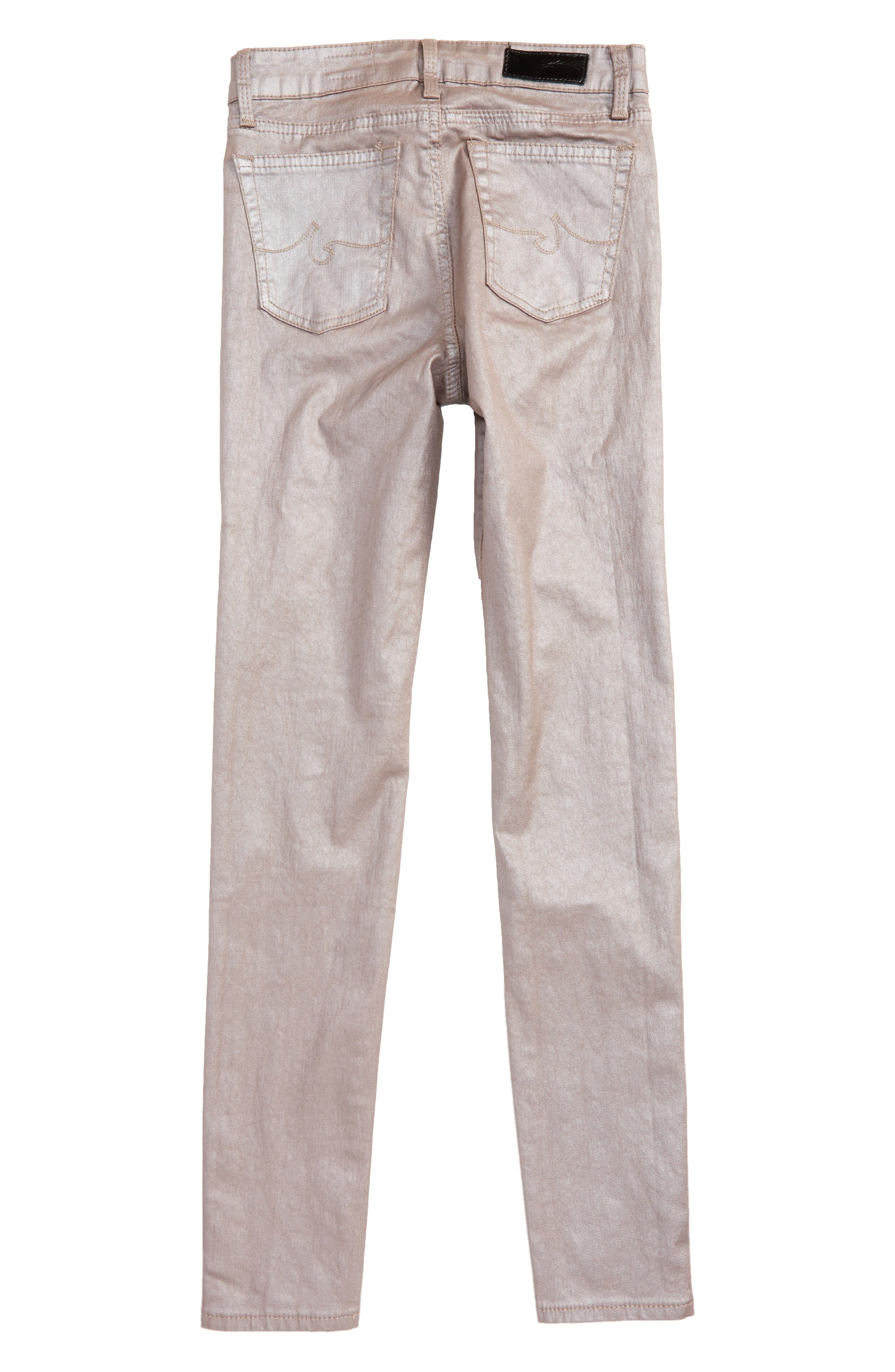 The Sleek Twiggy Ankle Jeans,                             Alternate thumbnail 3, color,                             Rose Smoke