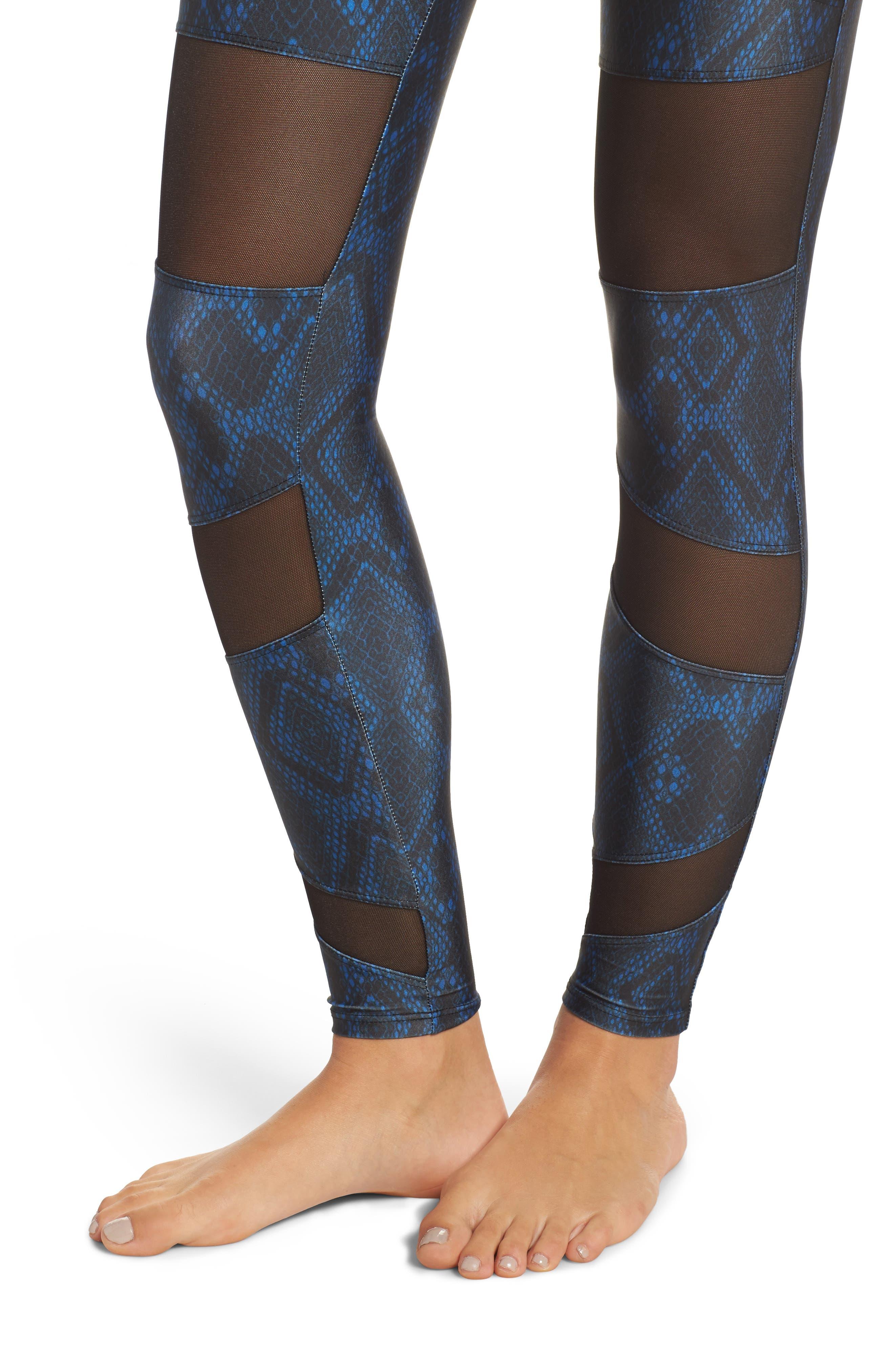 Alternate Image 4  - Onzie Mesh Inset Leggings