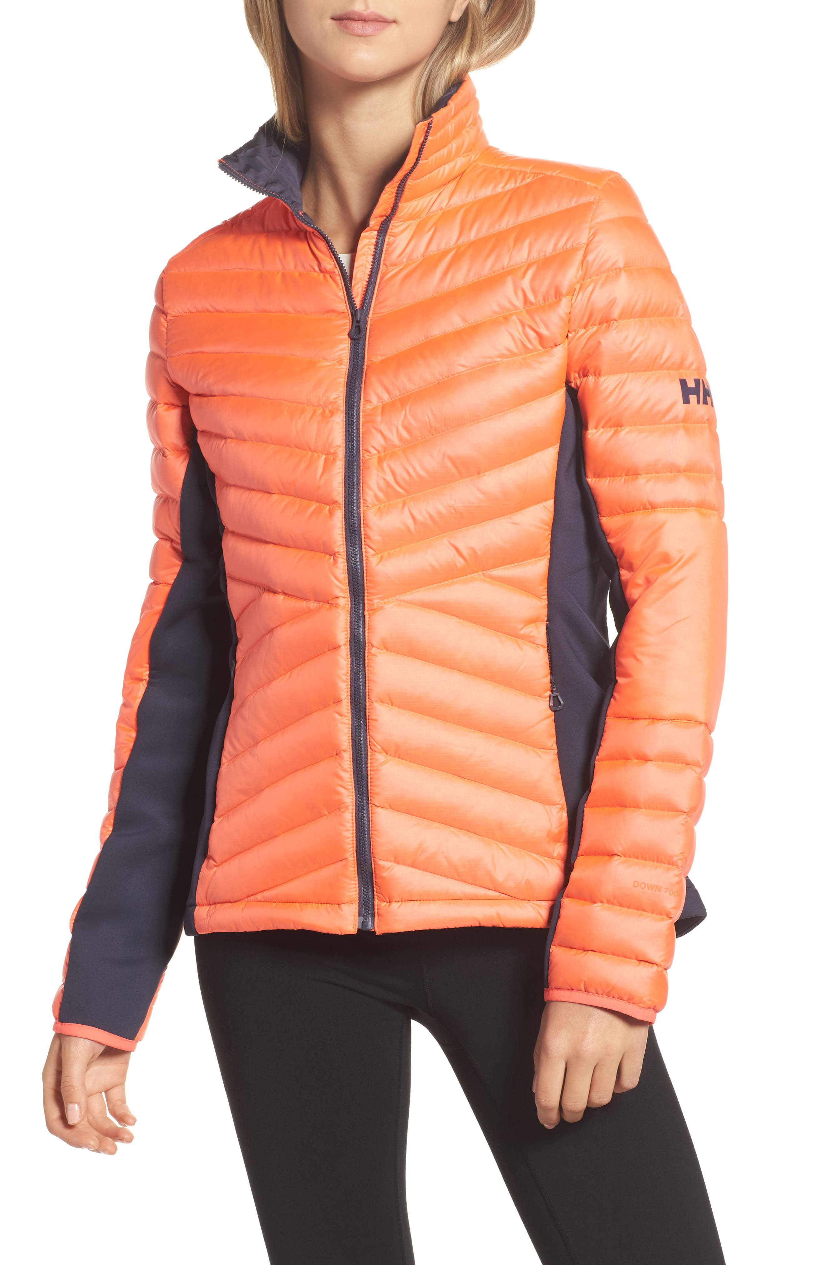 Verglas Hybrid Down Insulator Jacket,                             Main thumbnail 1, color,                             Neon Coral